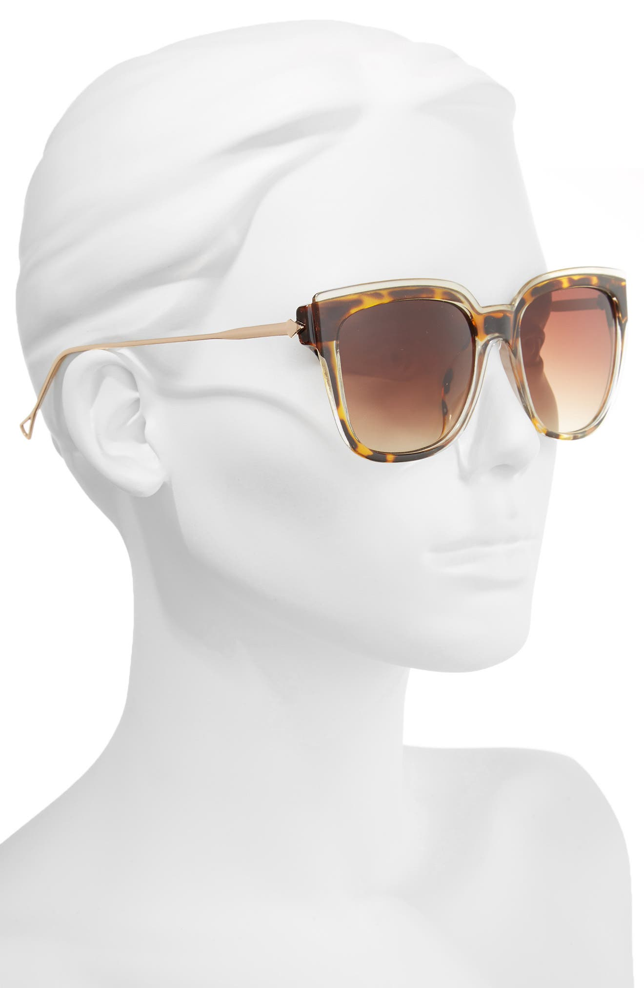 65mm Oversize Square Sunglasses,                             Alternate thumbnail 2, color,                             200