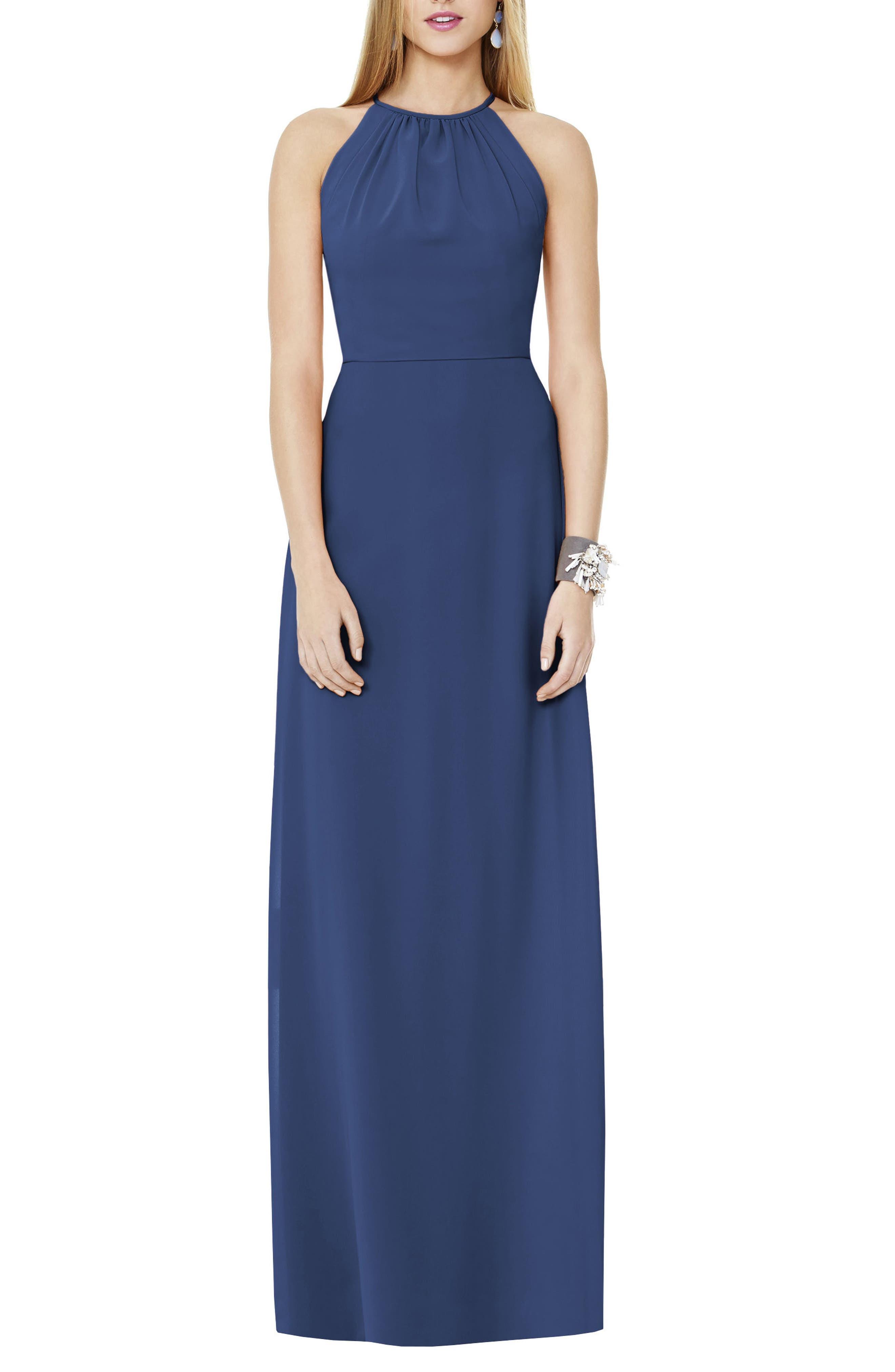 Matte Chiffon Gown,                         Main,                         color, SAILOR