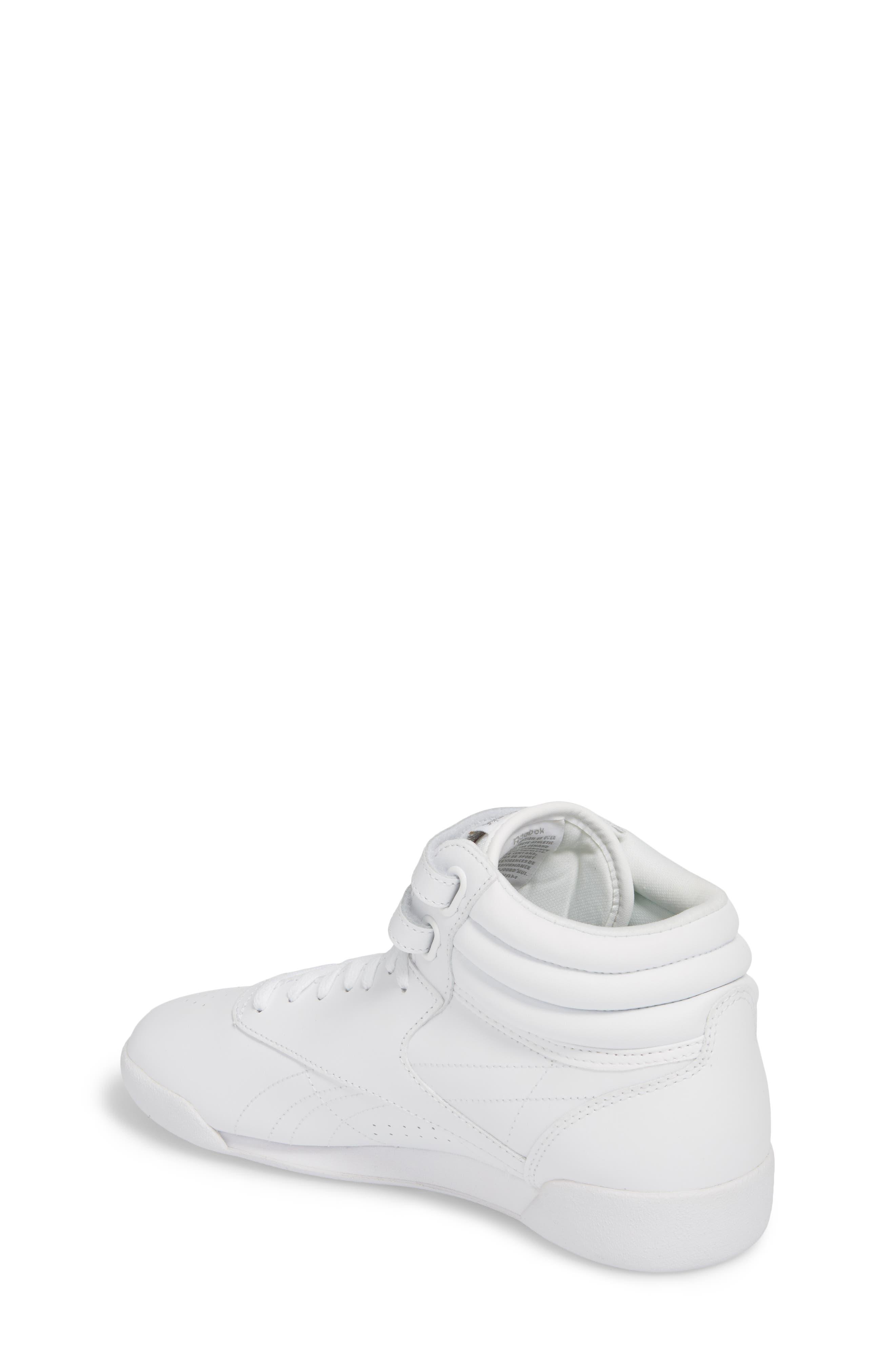 Freestyle Hi Sneaker,                             Alternate thumbnail 2, color,                             WHITE/ SILVER