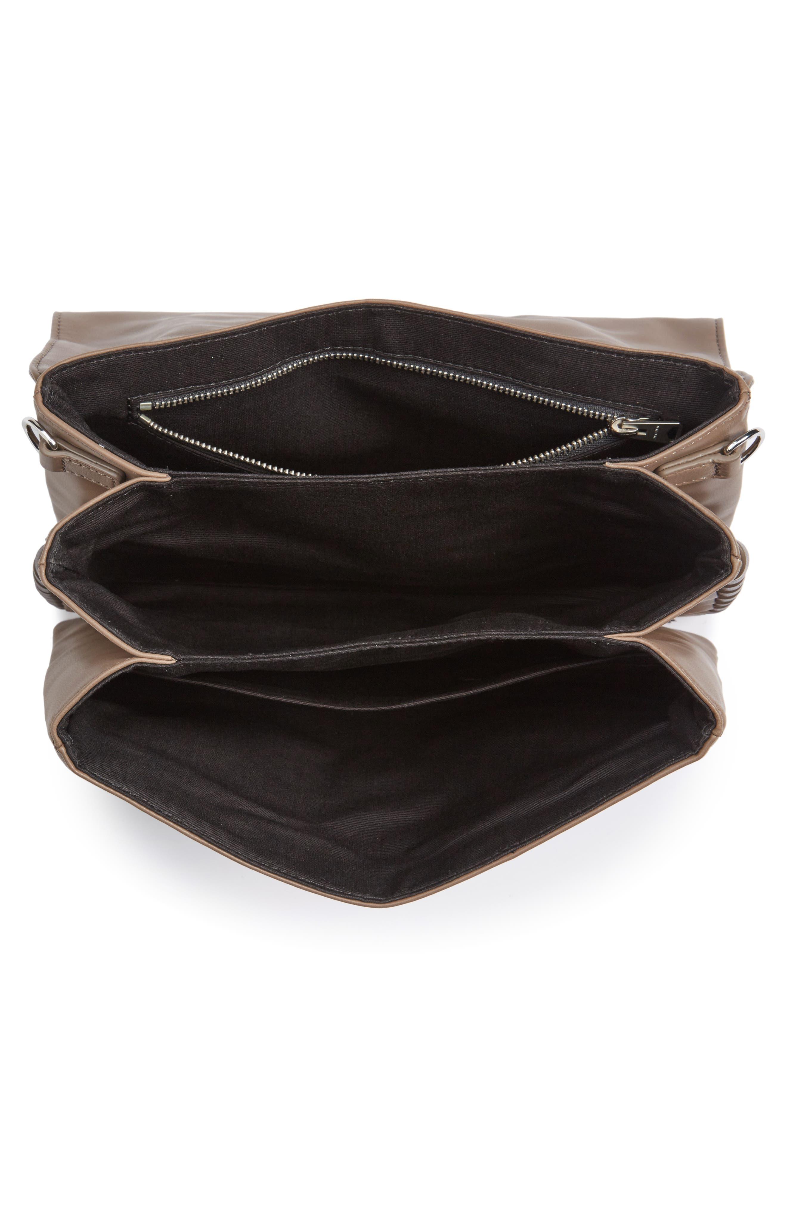 Fin Lambskin Leather Messenger Bag,                             Alternate thumbnail 7, color,