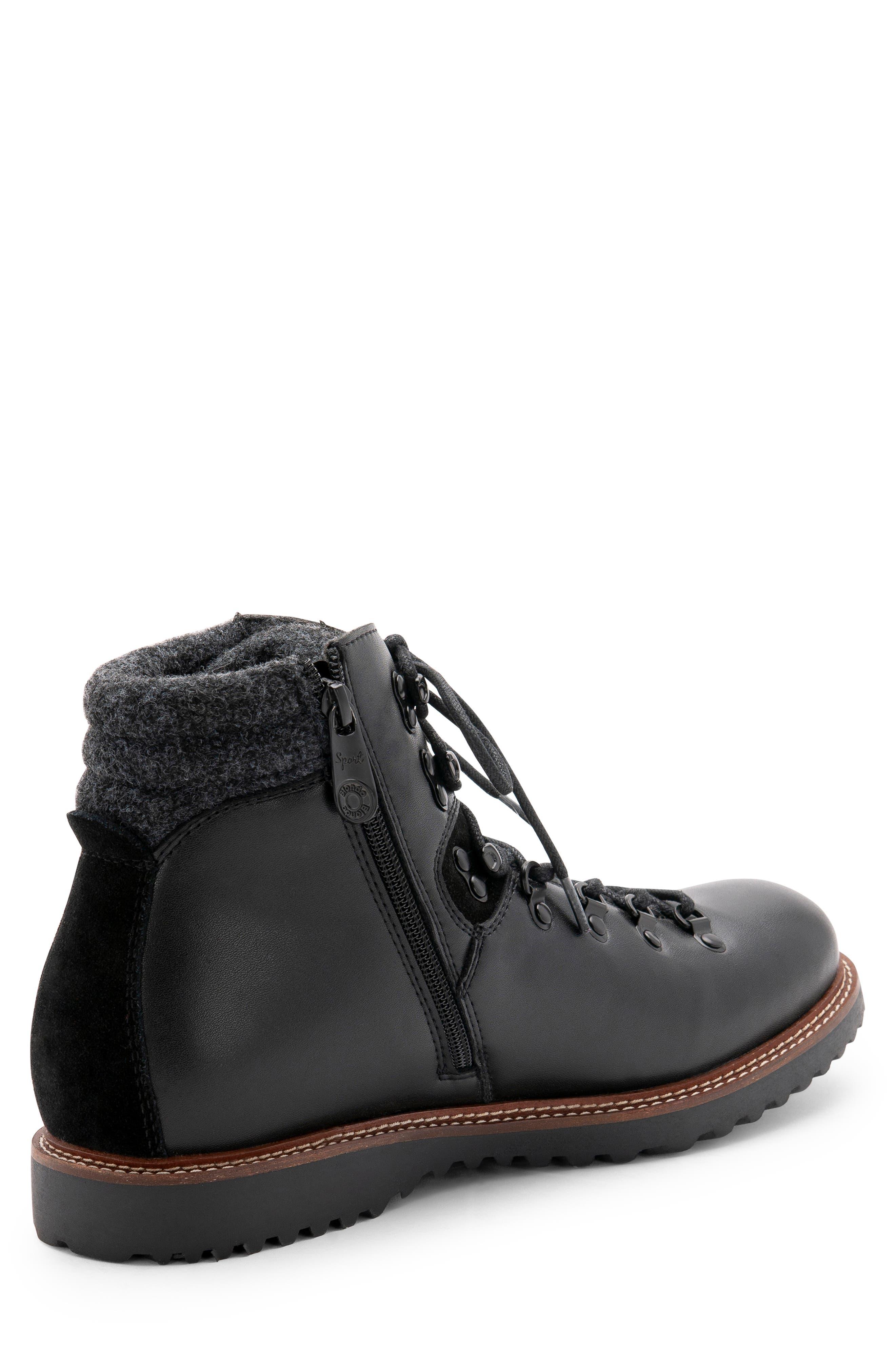 Morgan Waterproof Plain Toe Boot,                             Alternate thumbnail 7, color,                             BLACK LEATHER