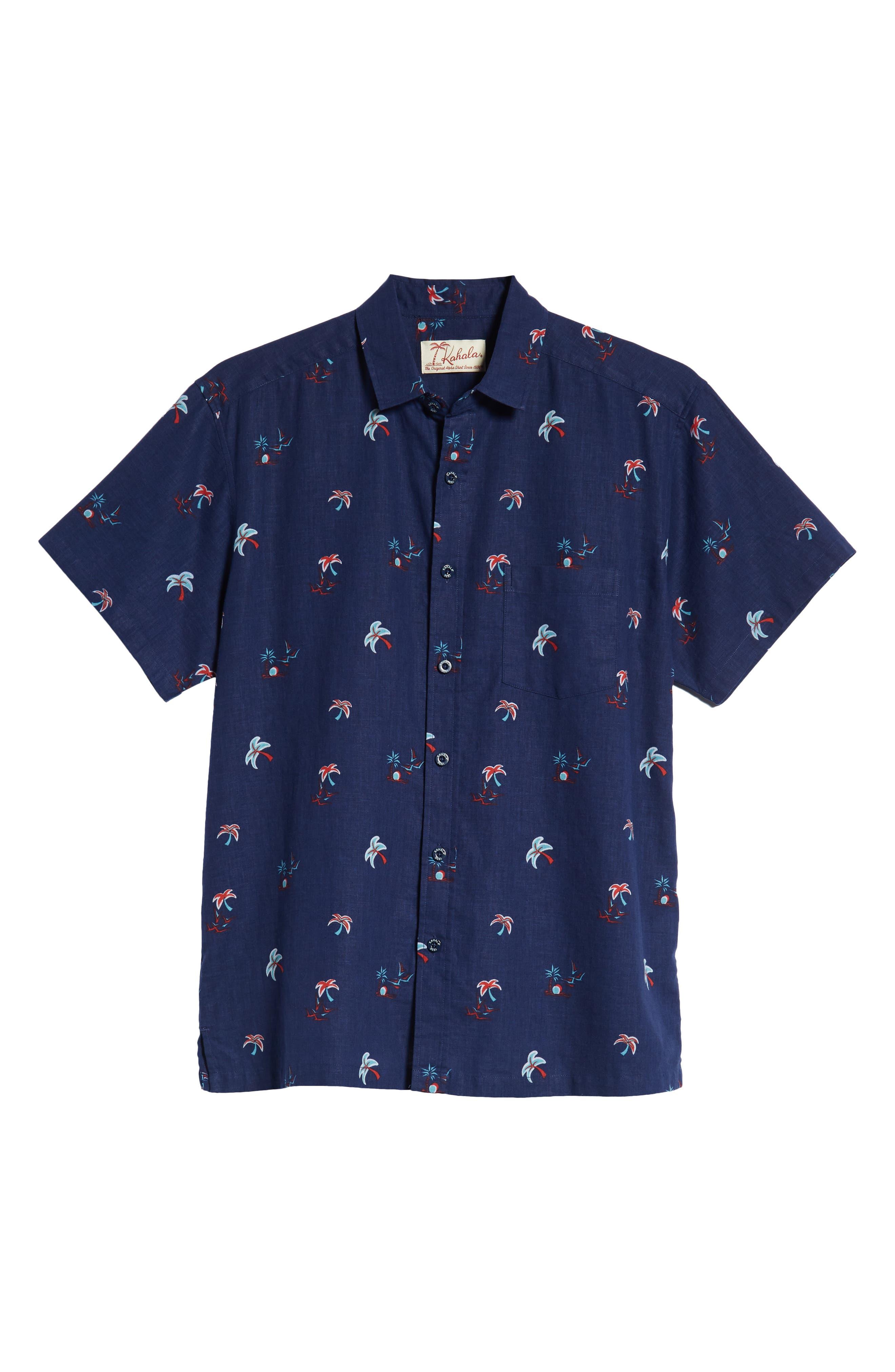 Setting Sun Classic Fit Sport Shirt,                             Alternate thumbnail 5, color,                             NAVY