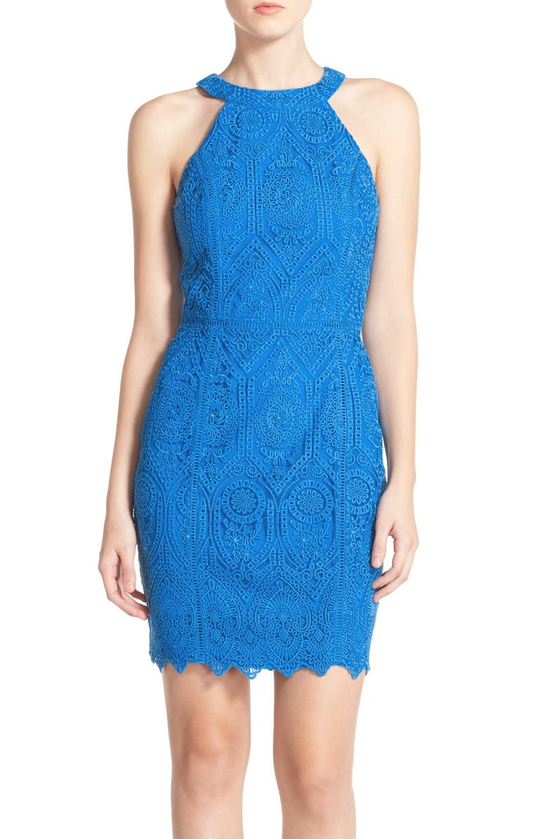 Adelyn Rae Embroidered Lace Sheath Dress  f9d74a033f