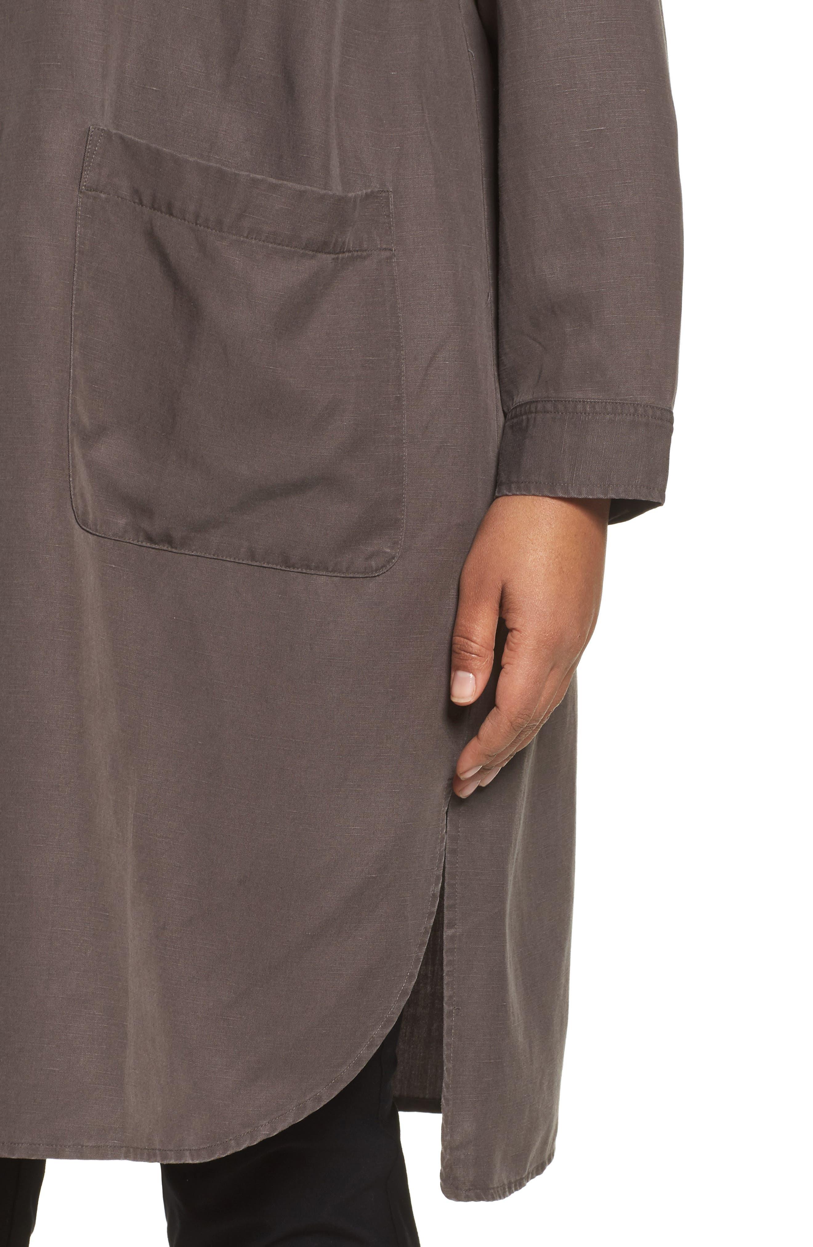 Long Tencel<sup>®</sup> Lyocell & Linen Jacket,                             Alternate thumbnail 7, color,