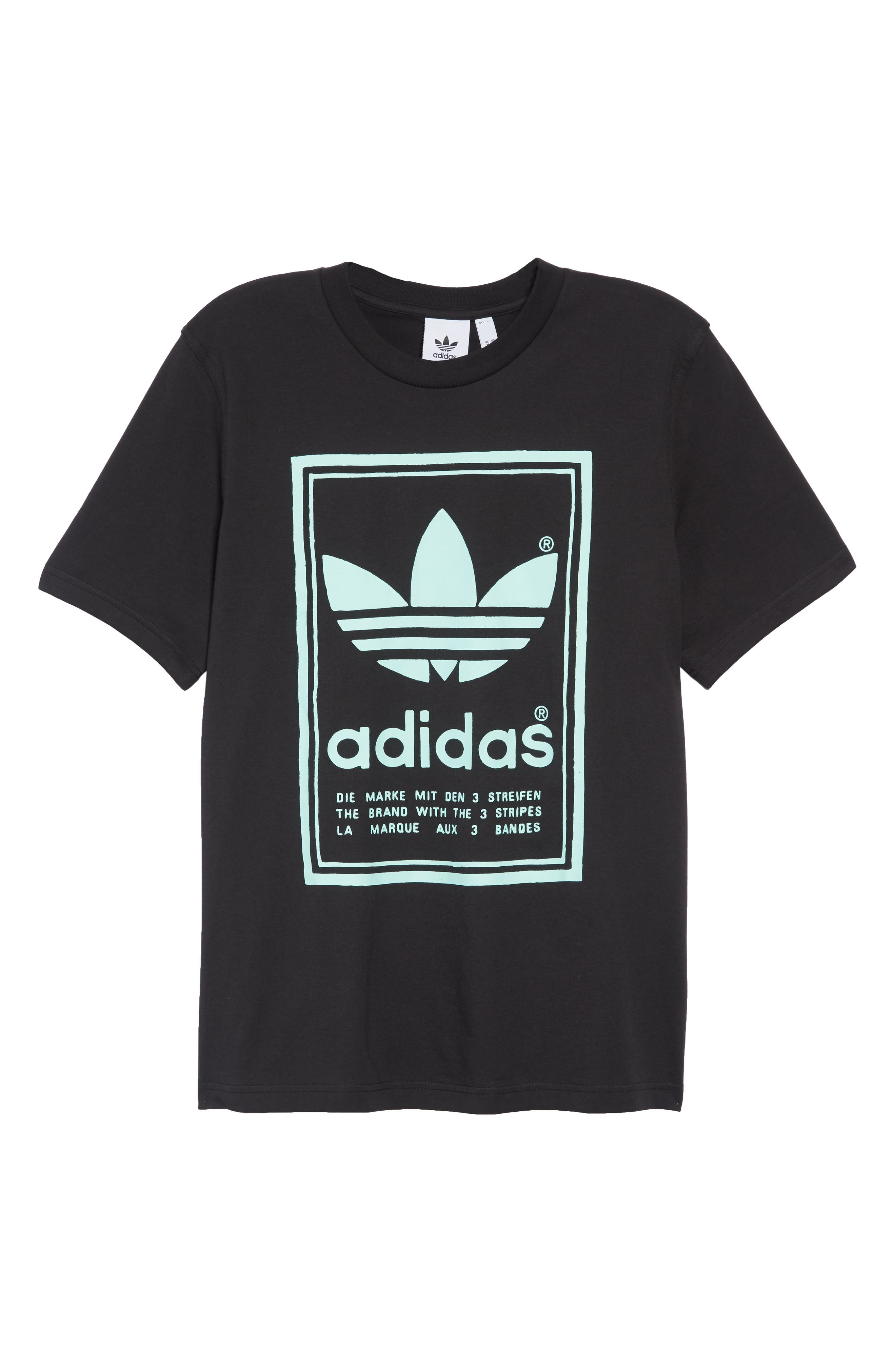 Vintage Logo Graphic T-Shirt,                             Alternate thumbnail 6, color,                             BLACK
