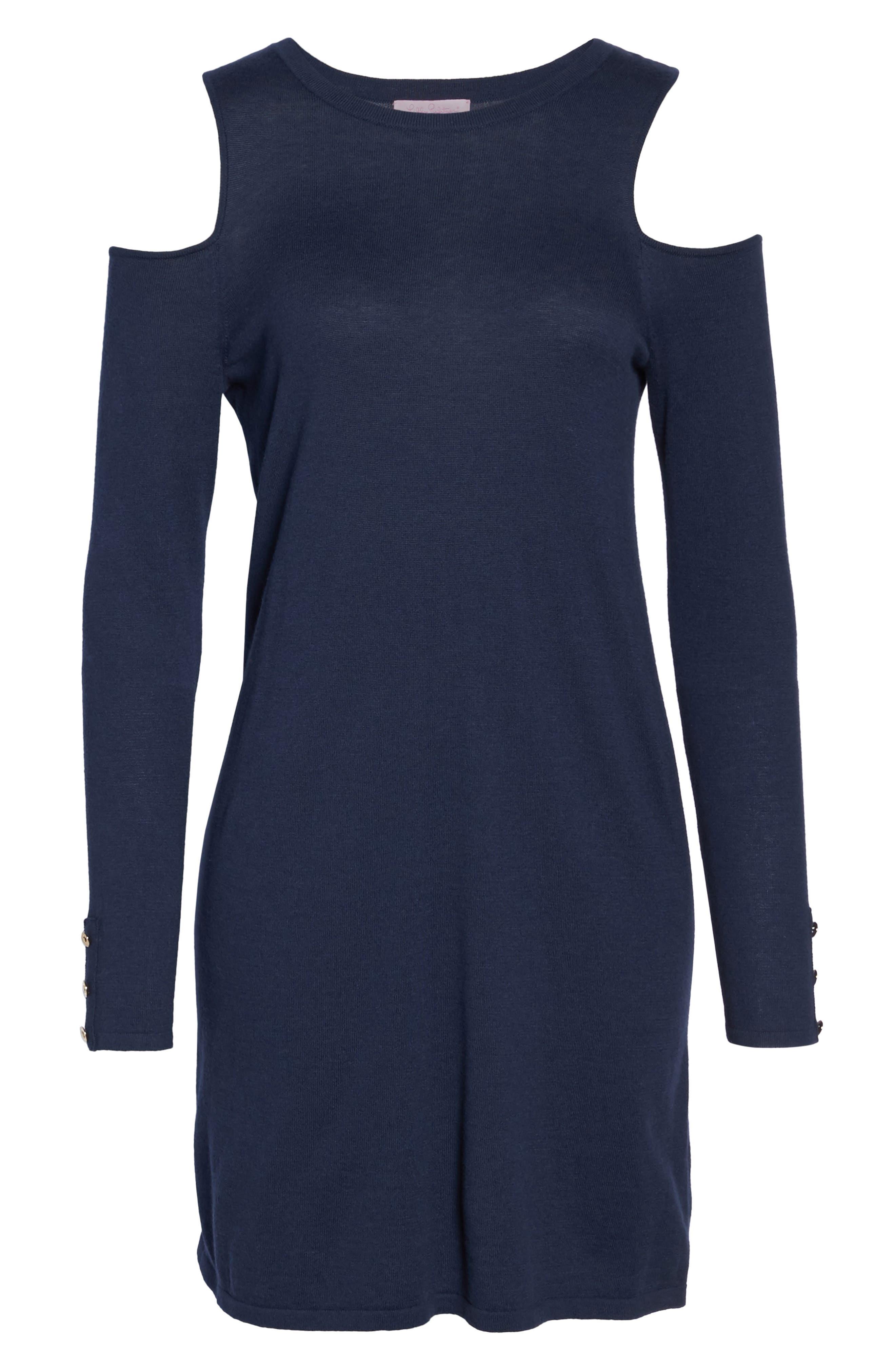 Faire Cold Shoulder Dress,                             Alternate thumbnail 6, color,                             408