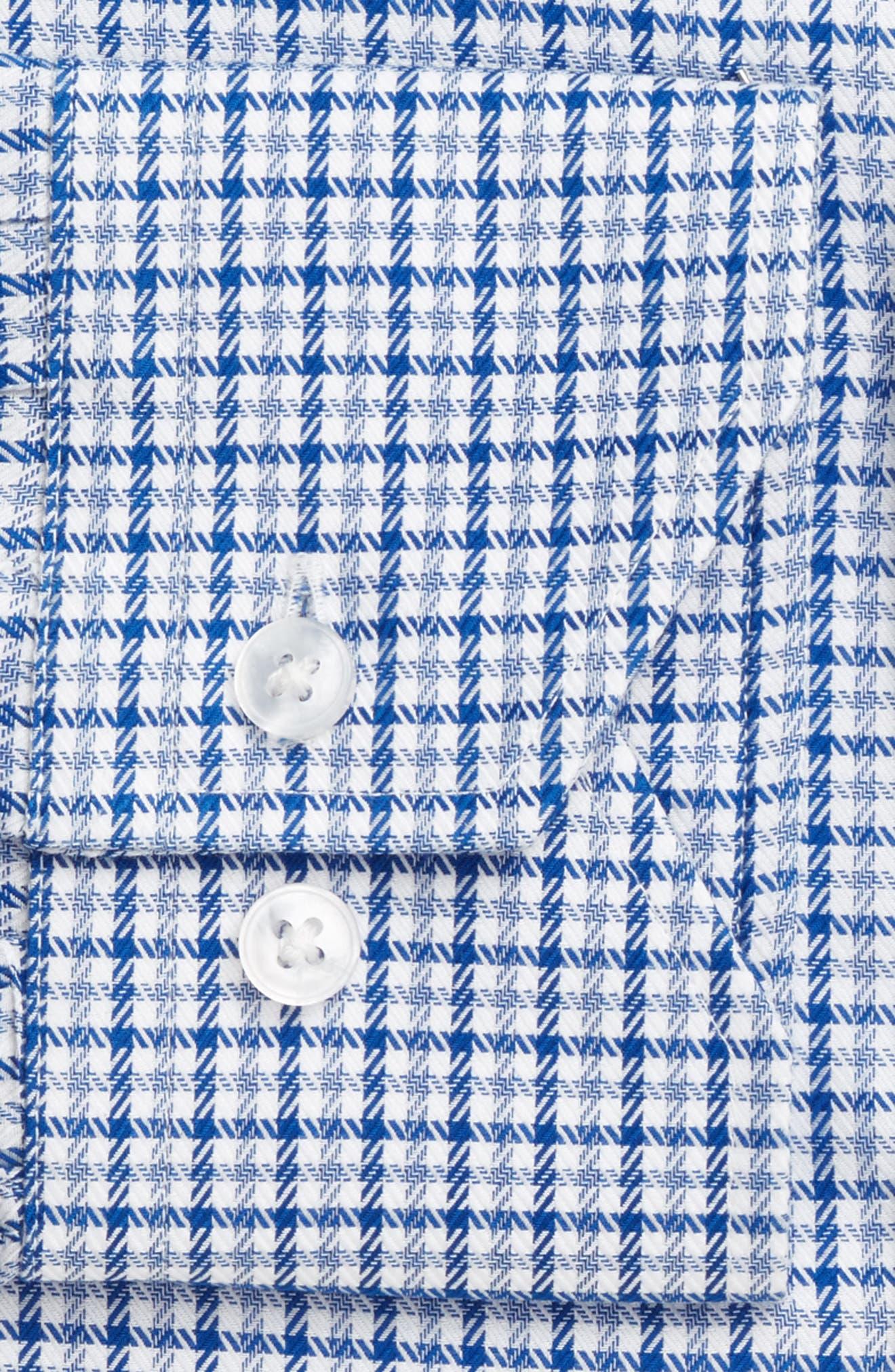 LORENZO UOMO,                             Trim Fit Textured Check Dress Shirt,                             Alternate thumbnail 4, color,                             410