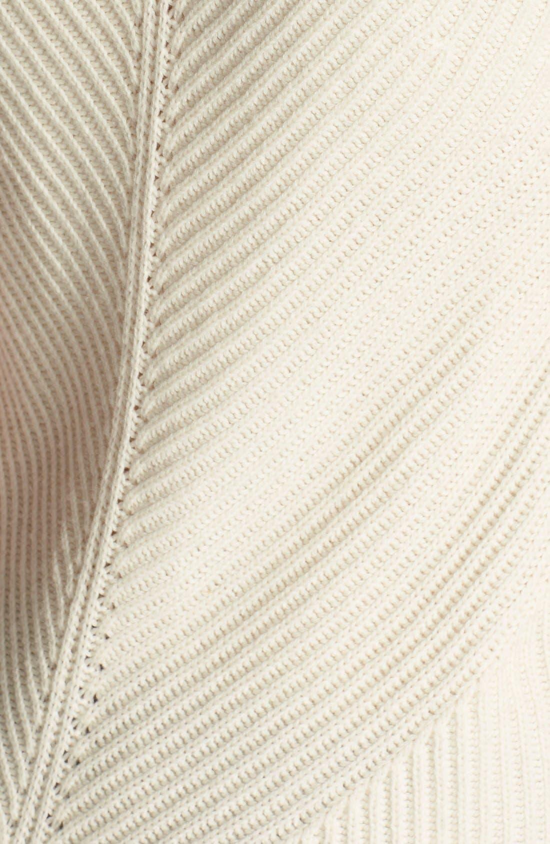 Sleeveless Ribbed Wool Turtleneck,                             Alternate thumbnail 3, color,                             101