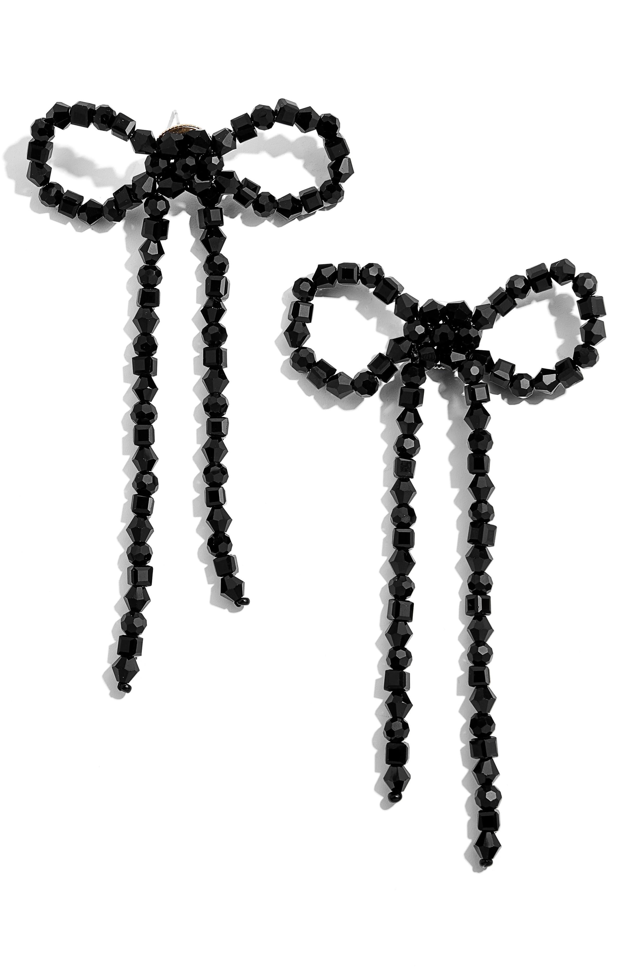 BAUBLEBAR,                             Scarlette Bow Drop Earrings,                             Main thumbnail 1, color,                             001