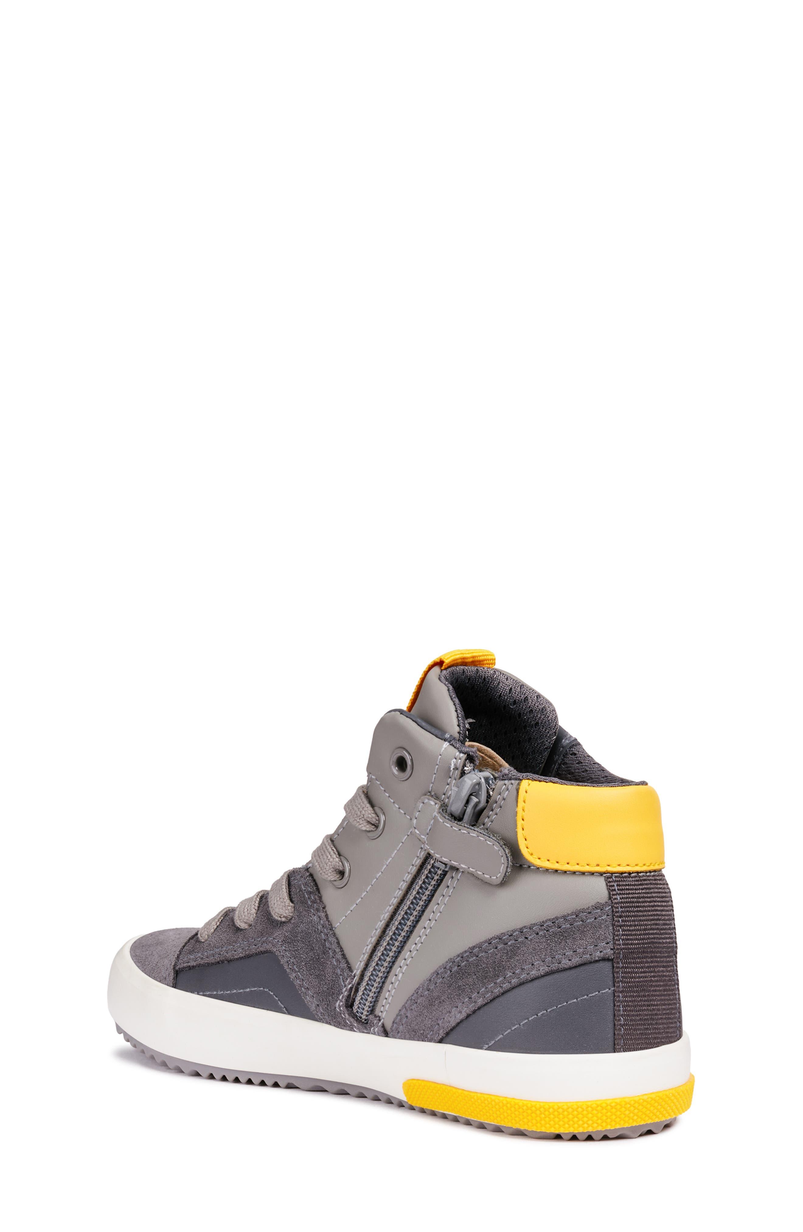 Alonisso 24 High Top Sneaker,                             Alternate thumbnail 2, color,                             DARK GREY/YELLOW