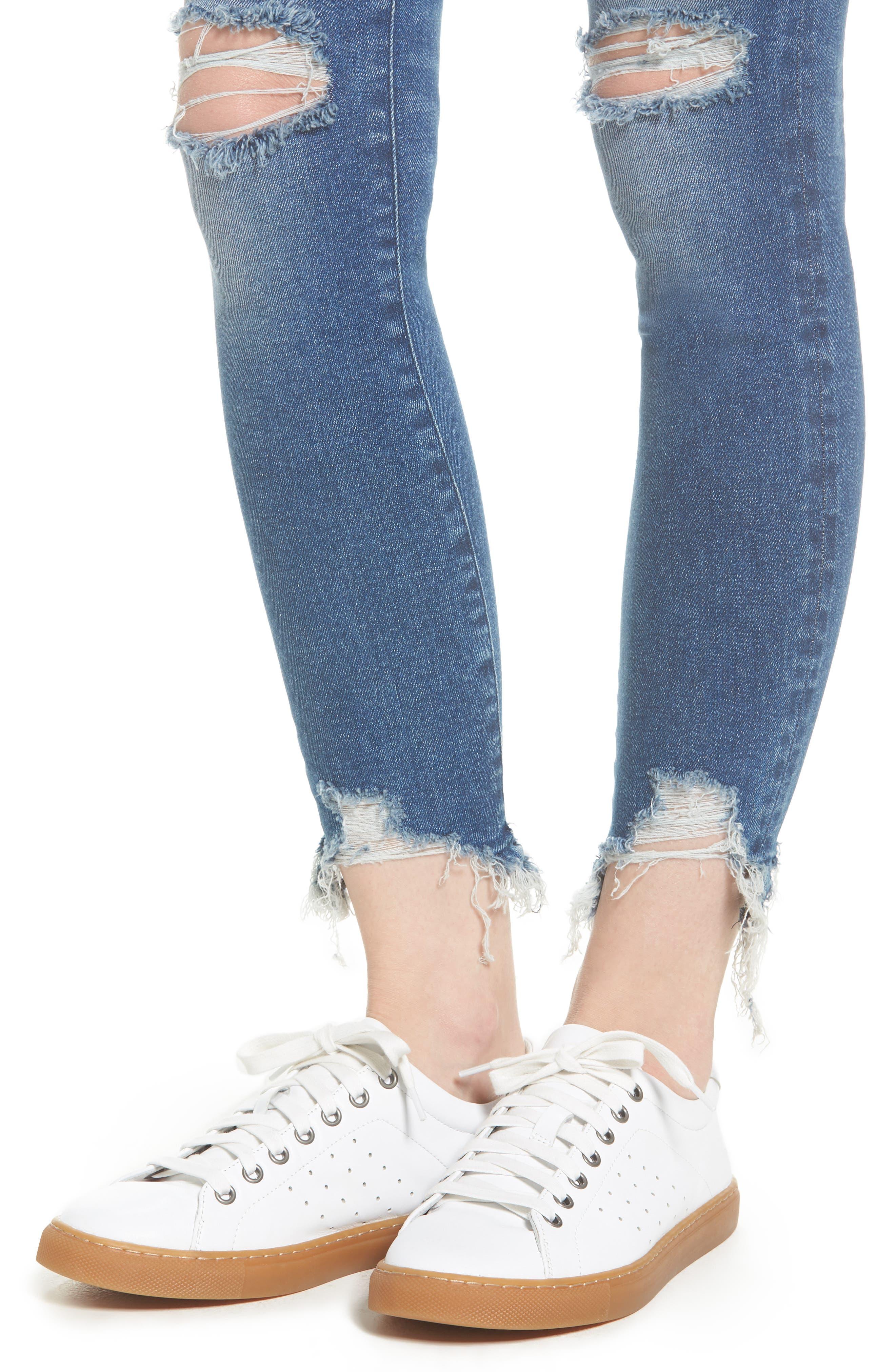 Farrow Instaslim High Waist Ankle Skinny Jeans,                             Alternate thumbnail 4, color,                             LARAMIE