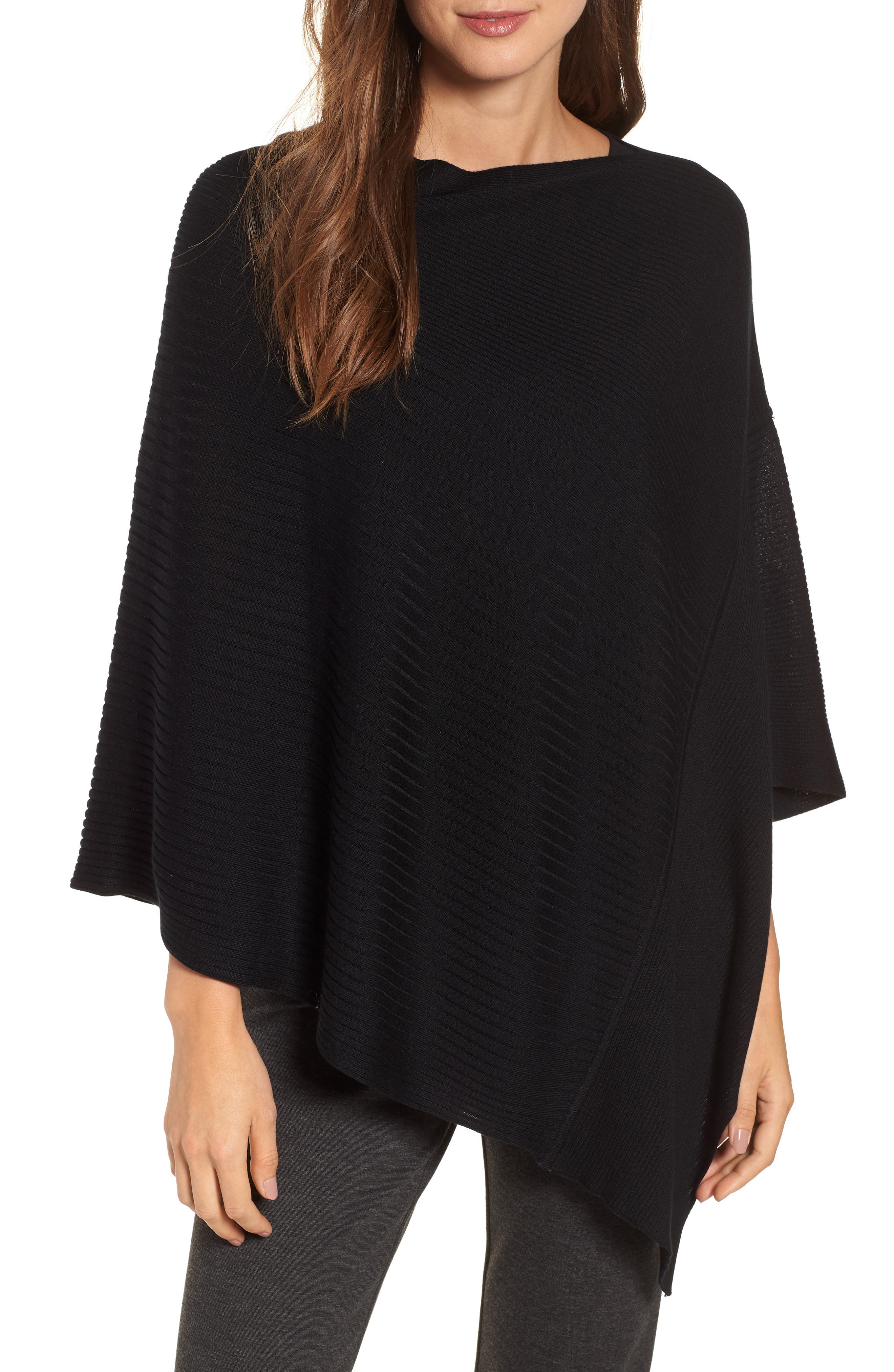 Bateau Neck Sweater Poncho,                         Main,                         color,