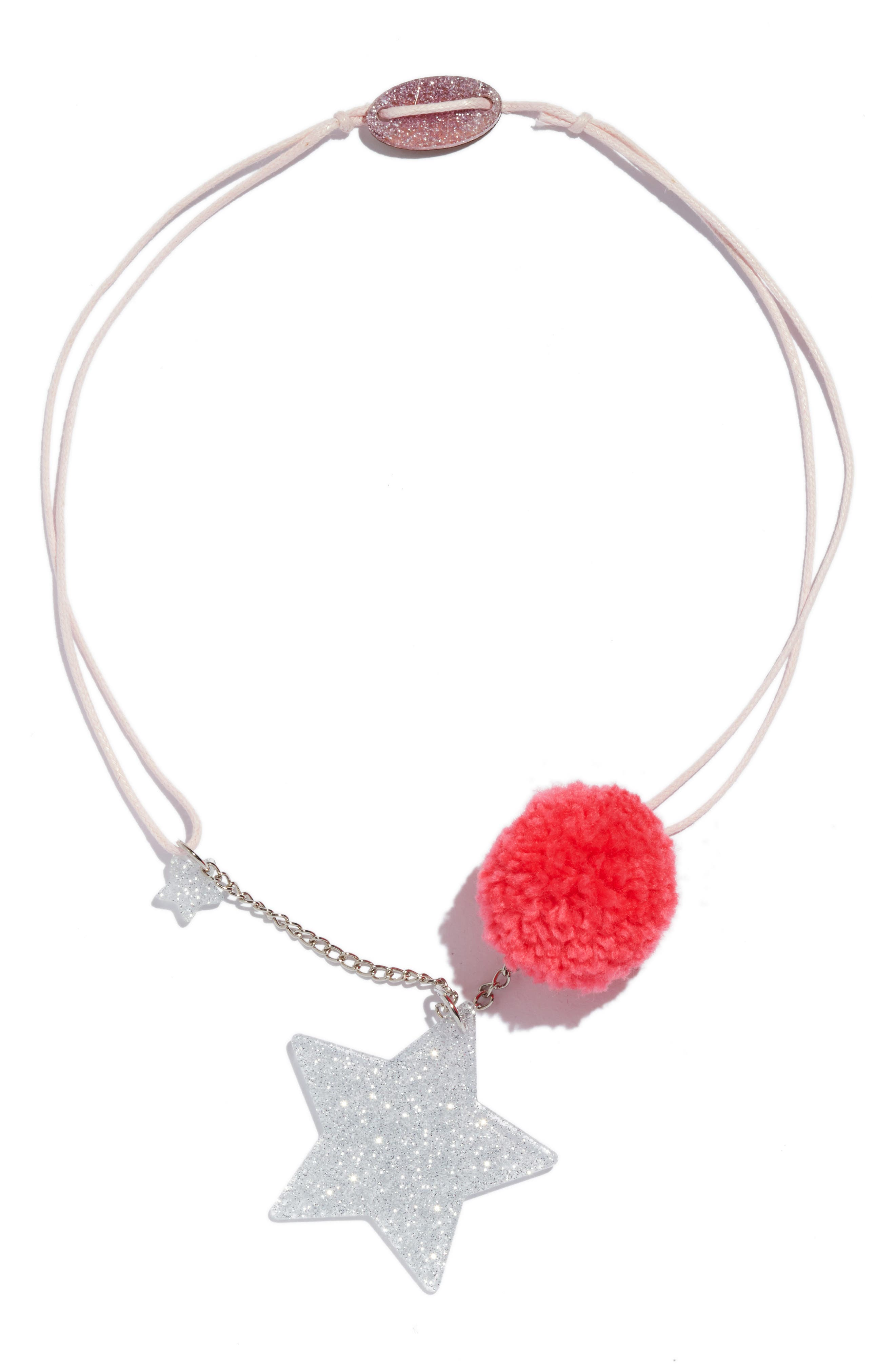 girl's lilies & roses star necklace