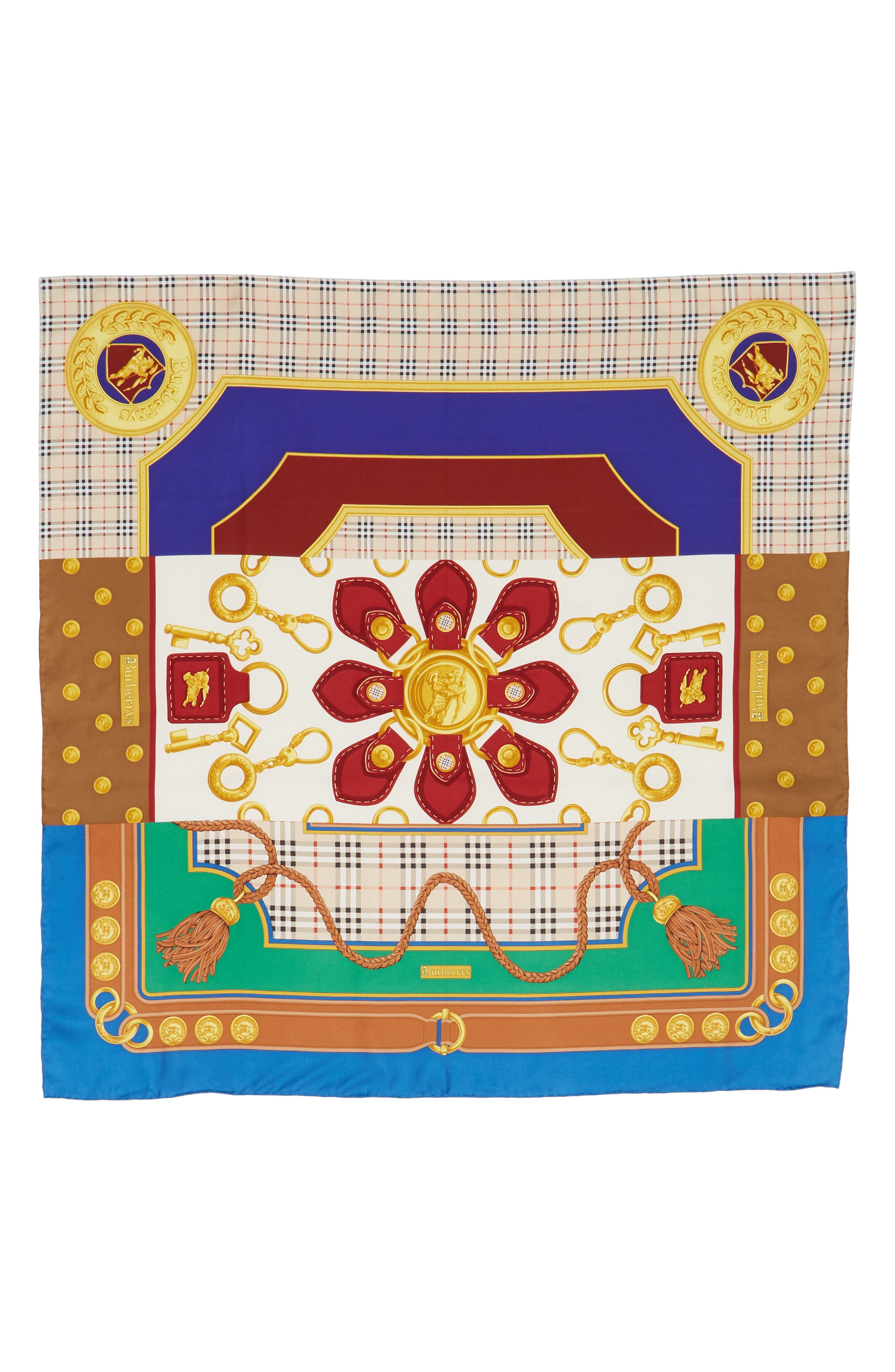 Archive Print Silk Square Scarf,                             Main thumbnail 1, color,                             200