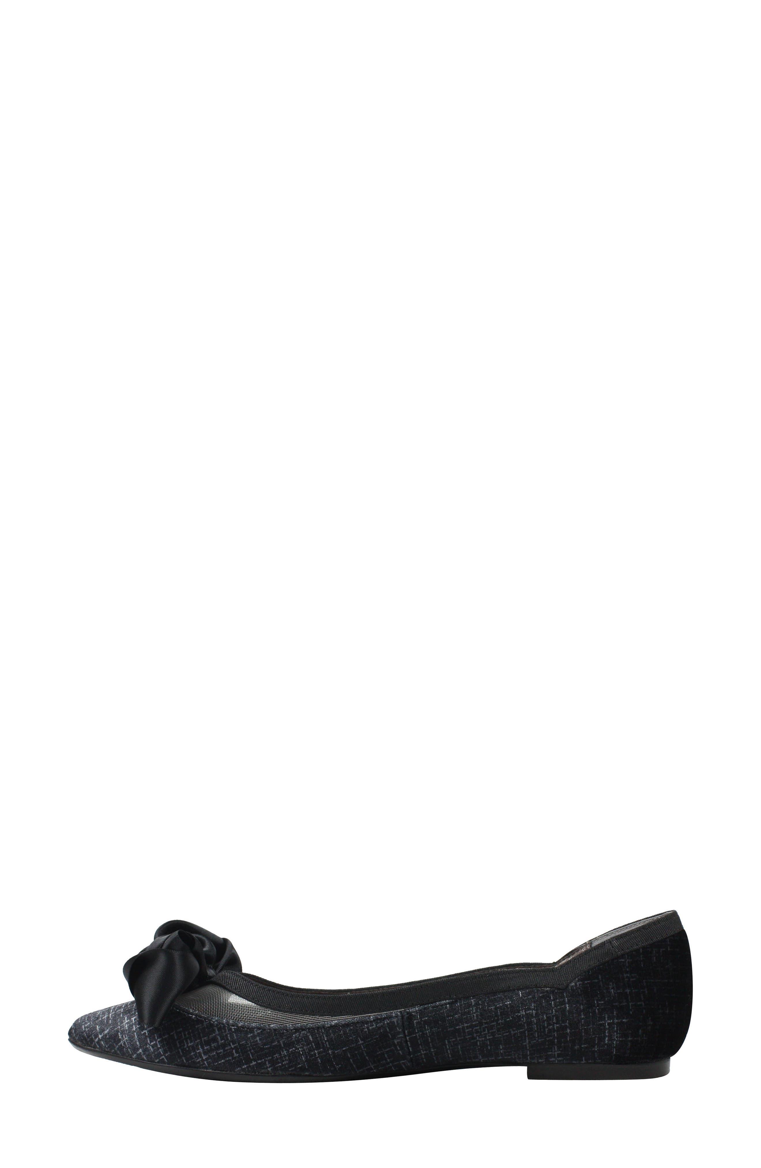 Allitson Bow Flat,                             Alternate thumbnail 7, color,                             TAUPE/ BLACK