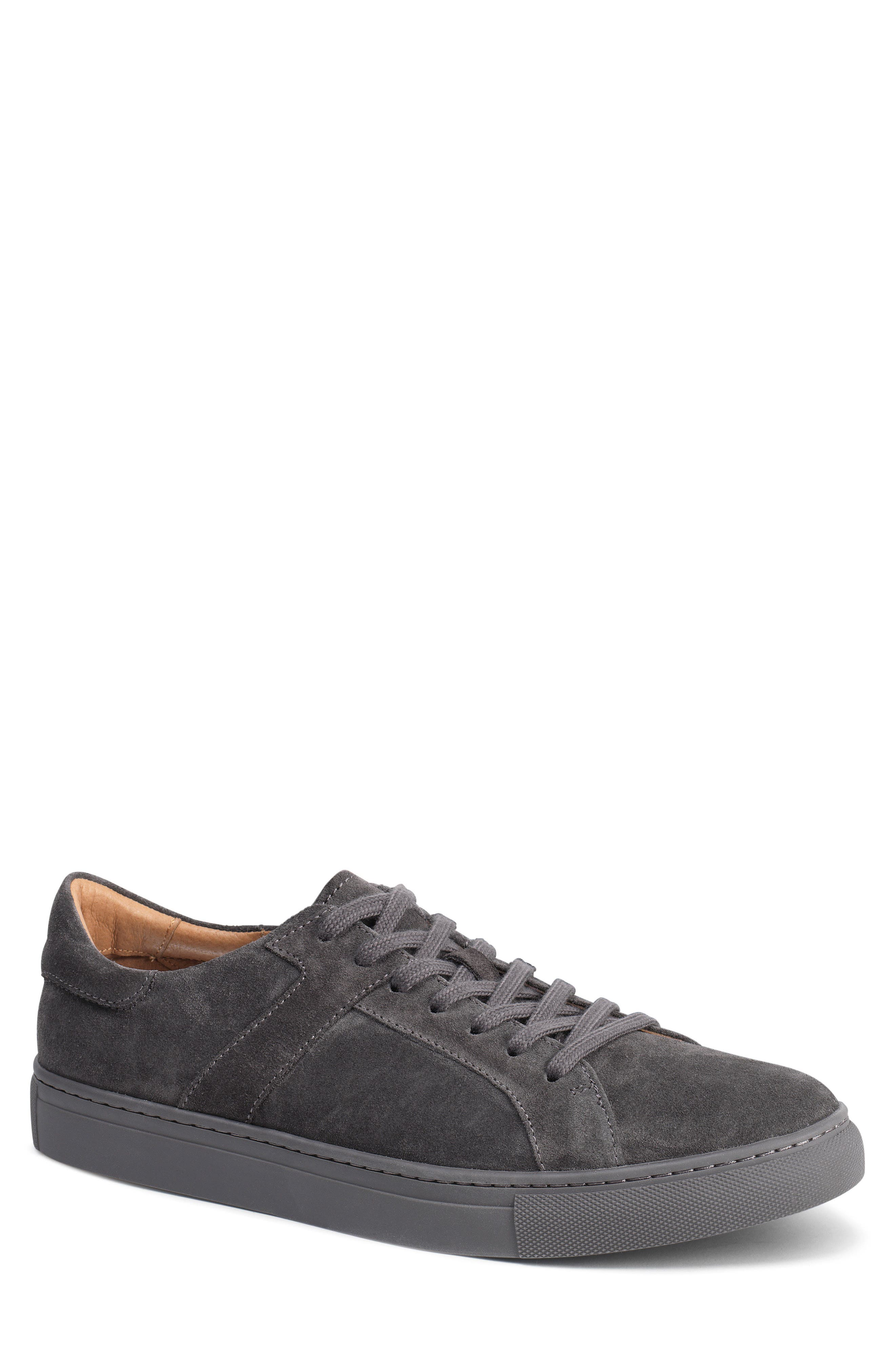 Aaron Sneaker,                             Main thumbnail 1, color,                             GRAY SUEDE