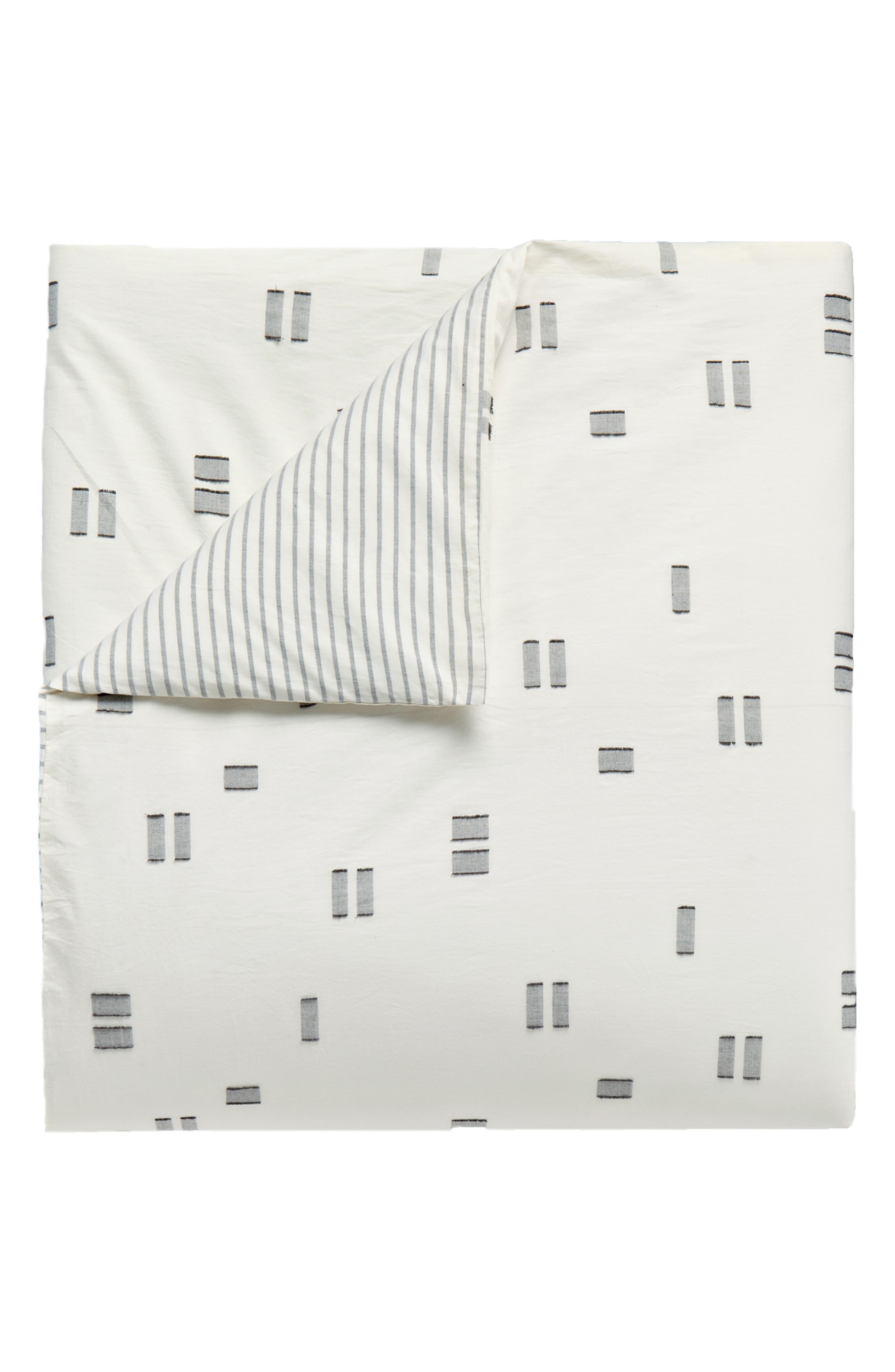 Crosshatched Comforter & Sham Set,                             Alternate thumbnail 4, color,                             IVORY