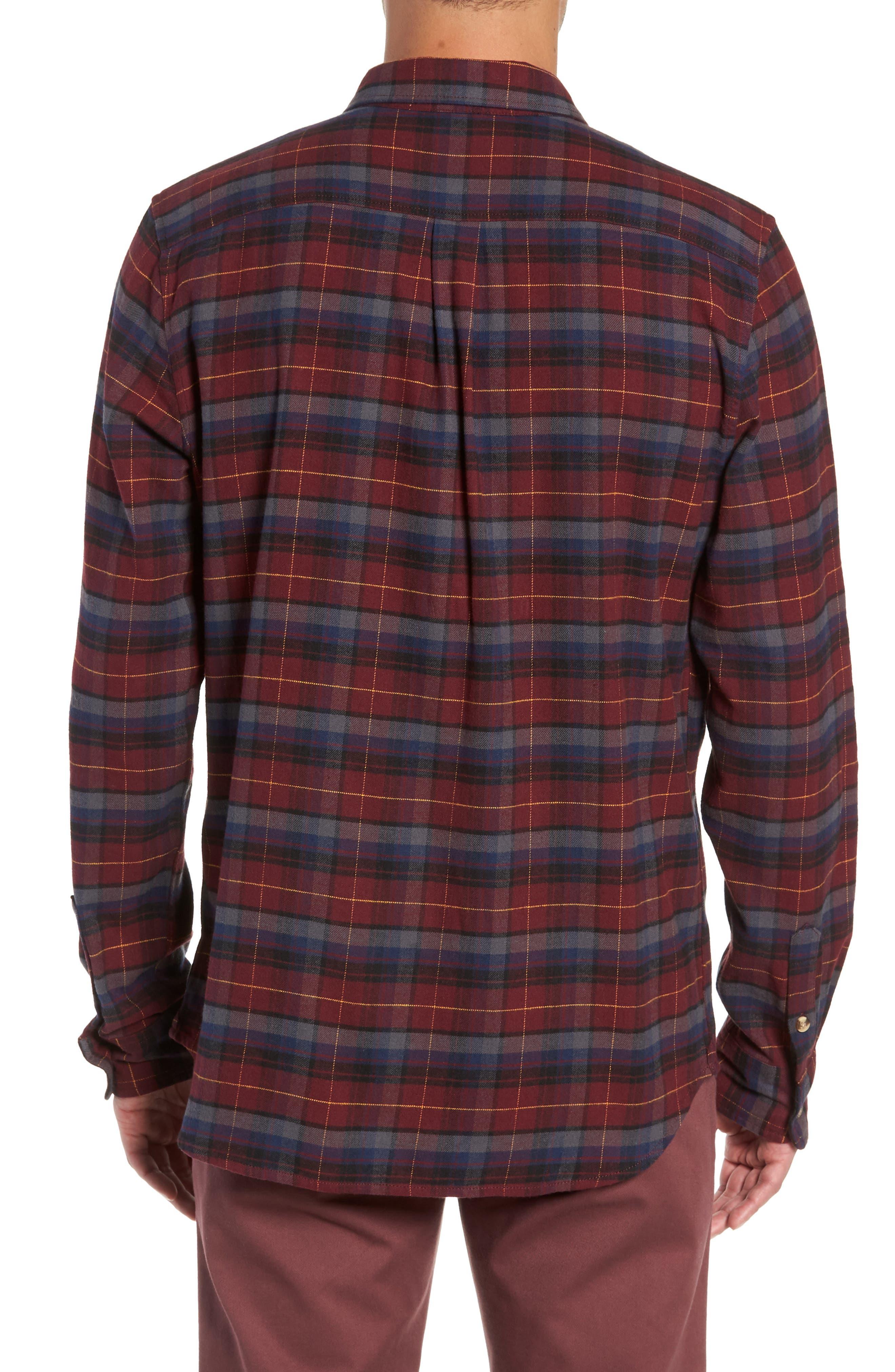 Banfield III Plaid Flannel Shirt,                             Alternate thumbnail 3, color,                             930
