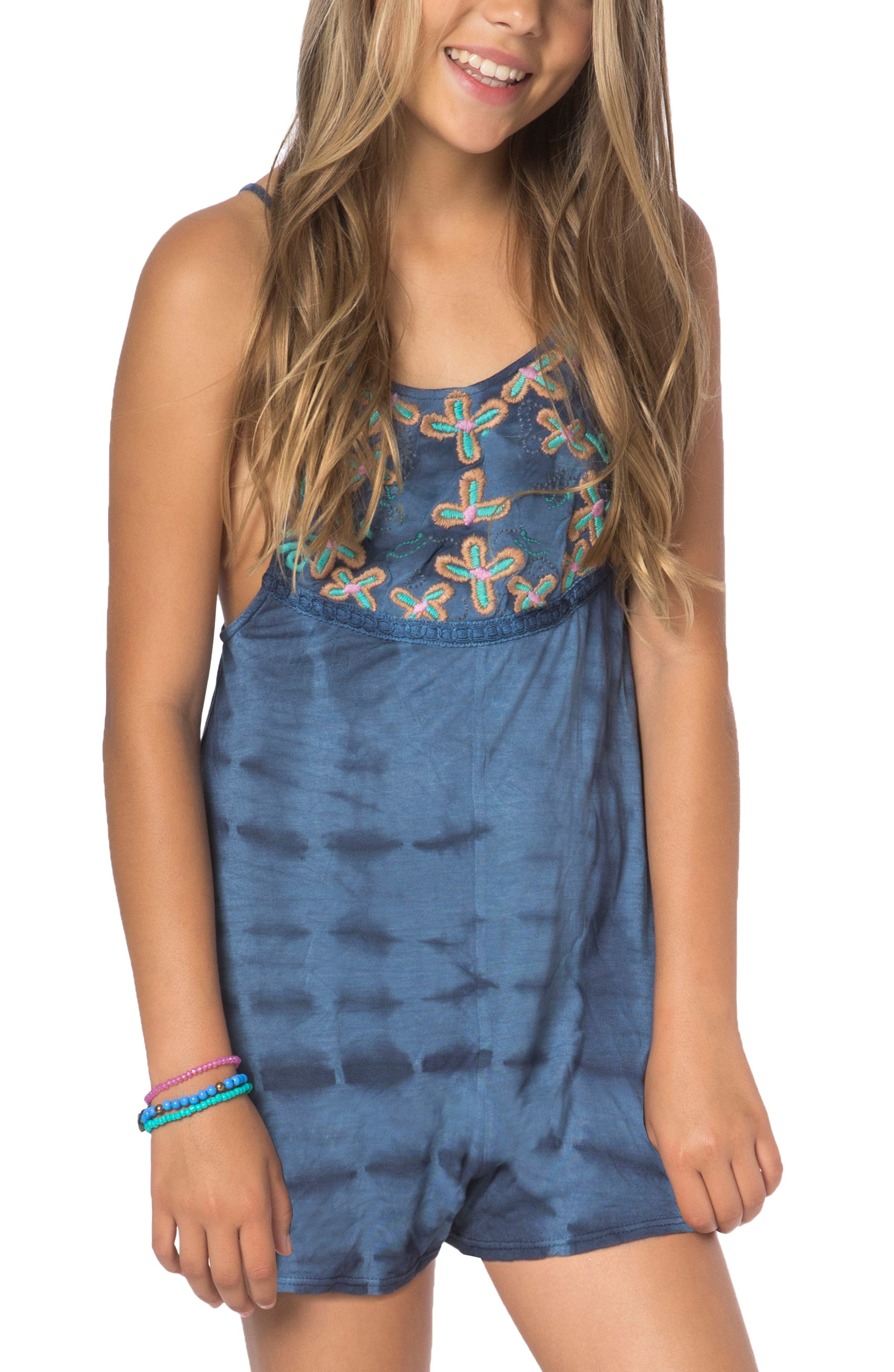 Elli Embroidered Romper,                             Alternate thumbnail 2, color,                             032