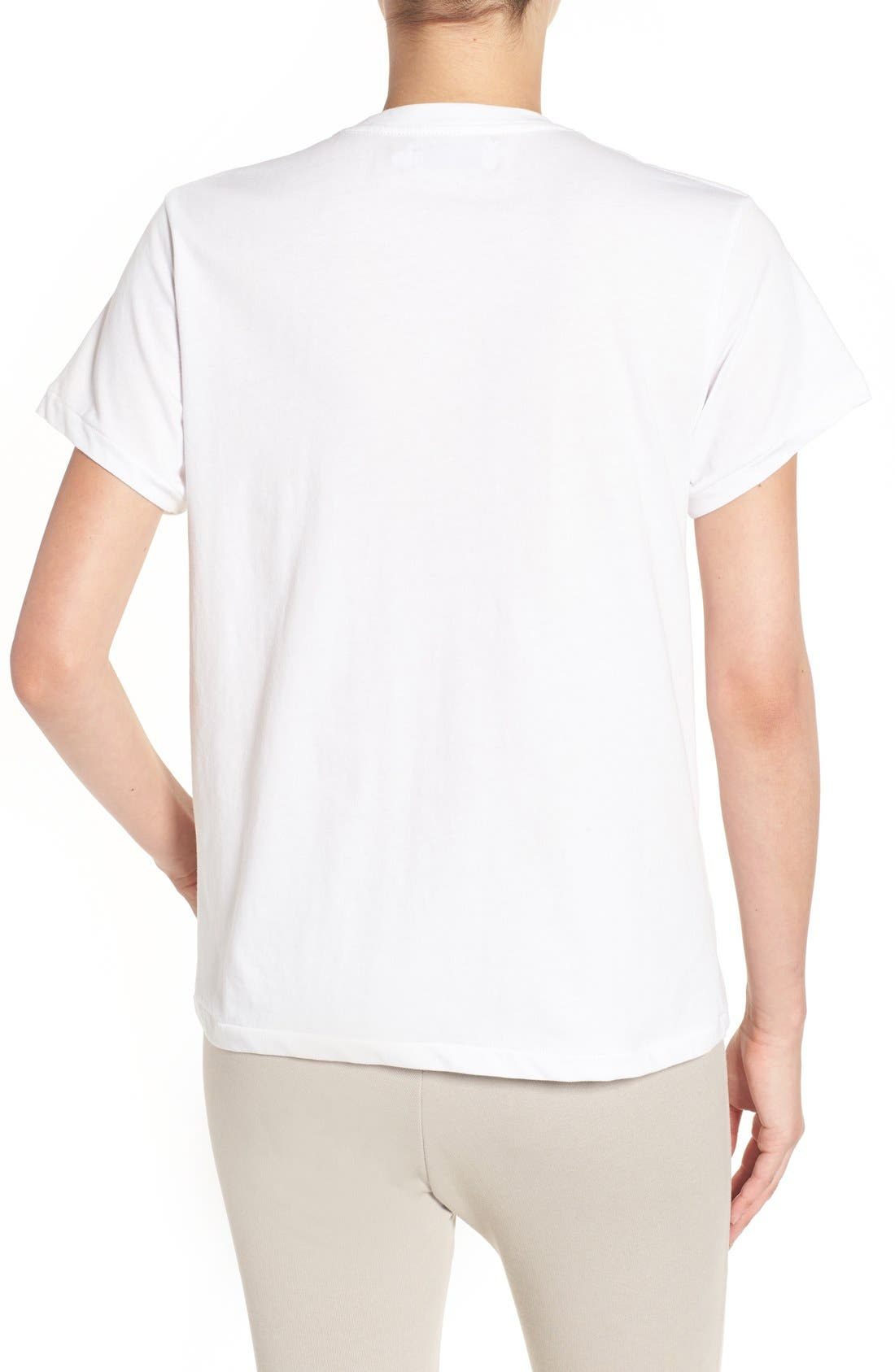 'Lips & Lashes' Graphic Tee,                             Alternate thumbnail 6, color,                             100