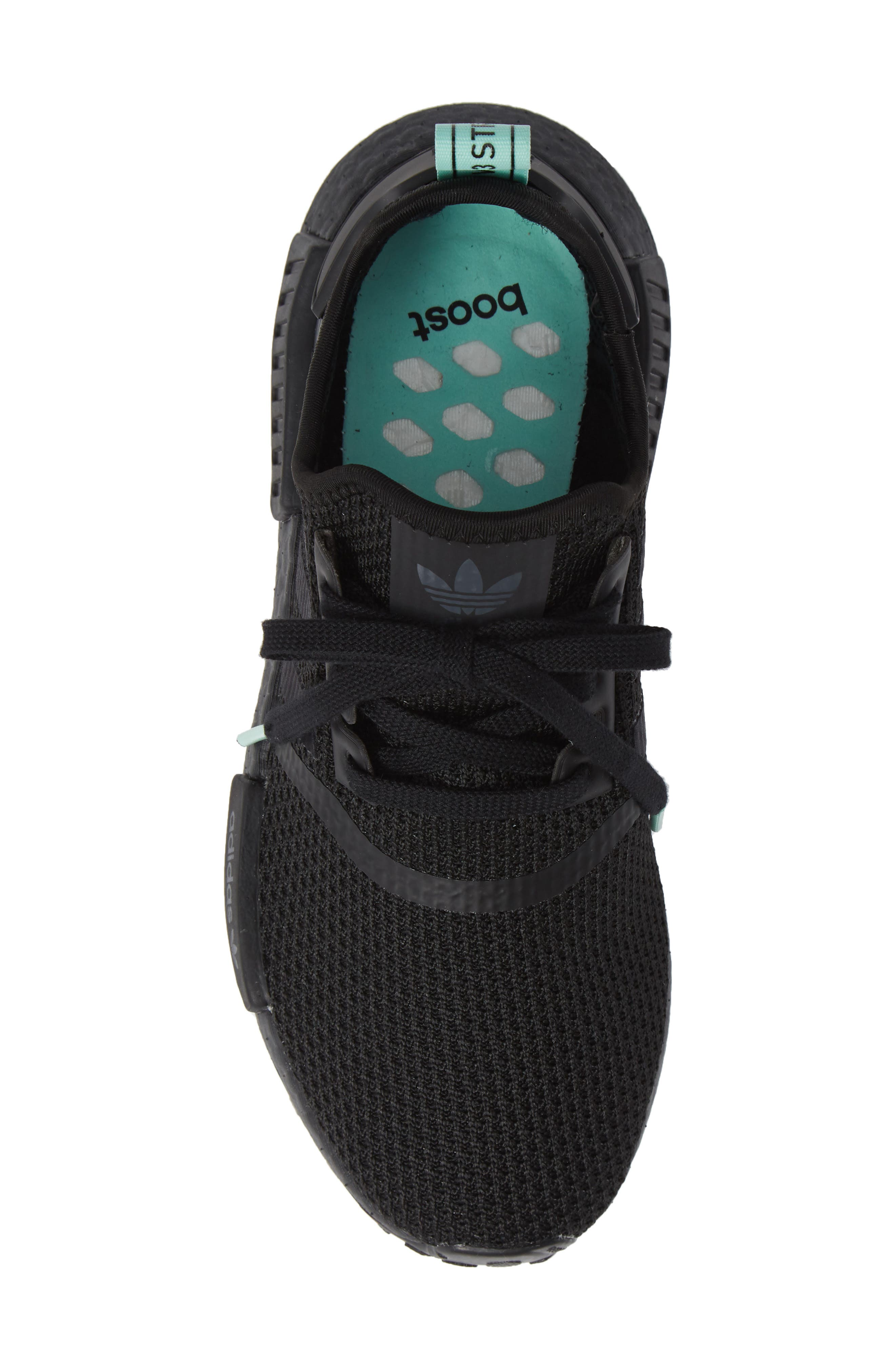 NMD R1 Athletic Shoe,                             Alternate thumbnail 5, color,                             BLACK/ BLACK/ CLEAR MINT