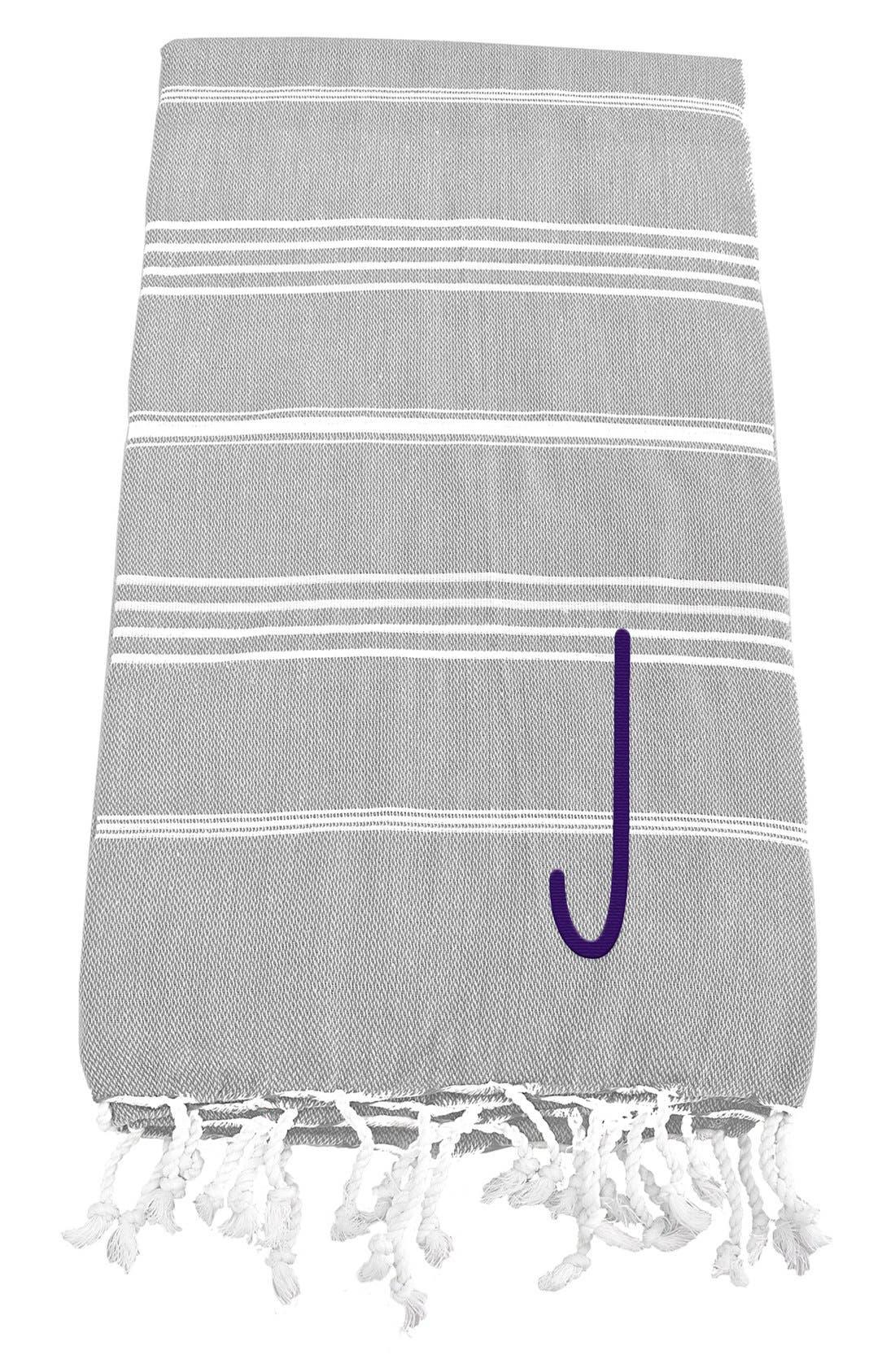 Monogram Turkish Cotton Towel,                             Main thumbnail 12, color,