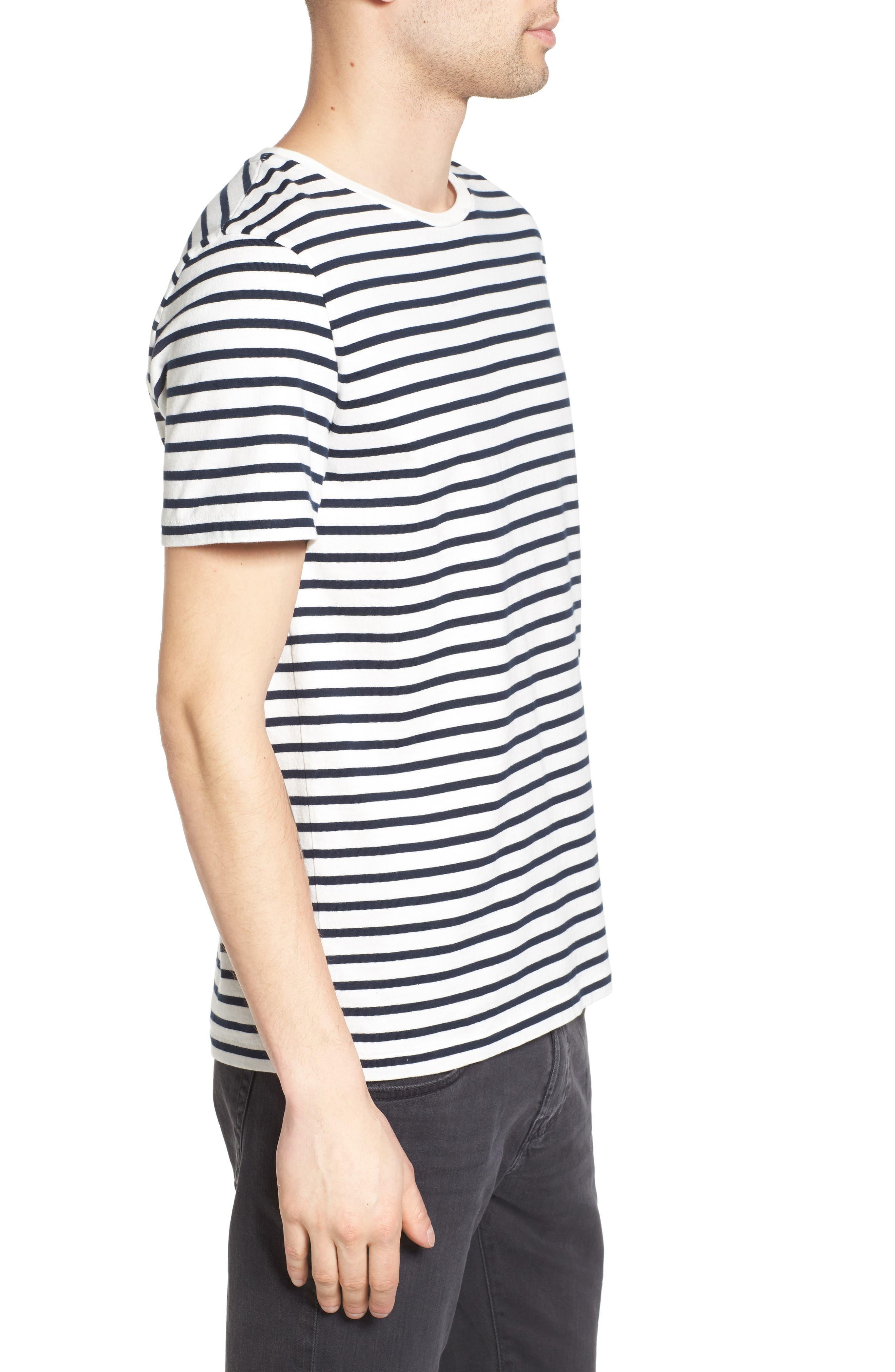Julian Stripe Crewneck T-Shirt,                             Alternate thumbnail 5, color,