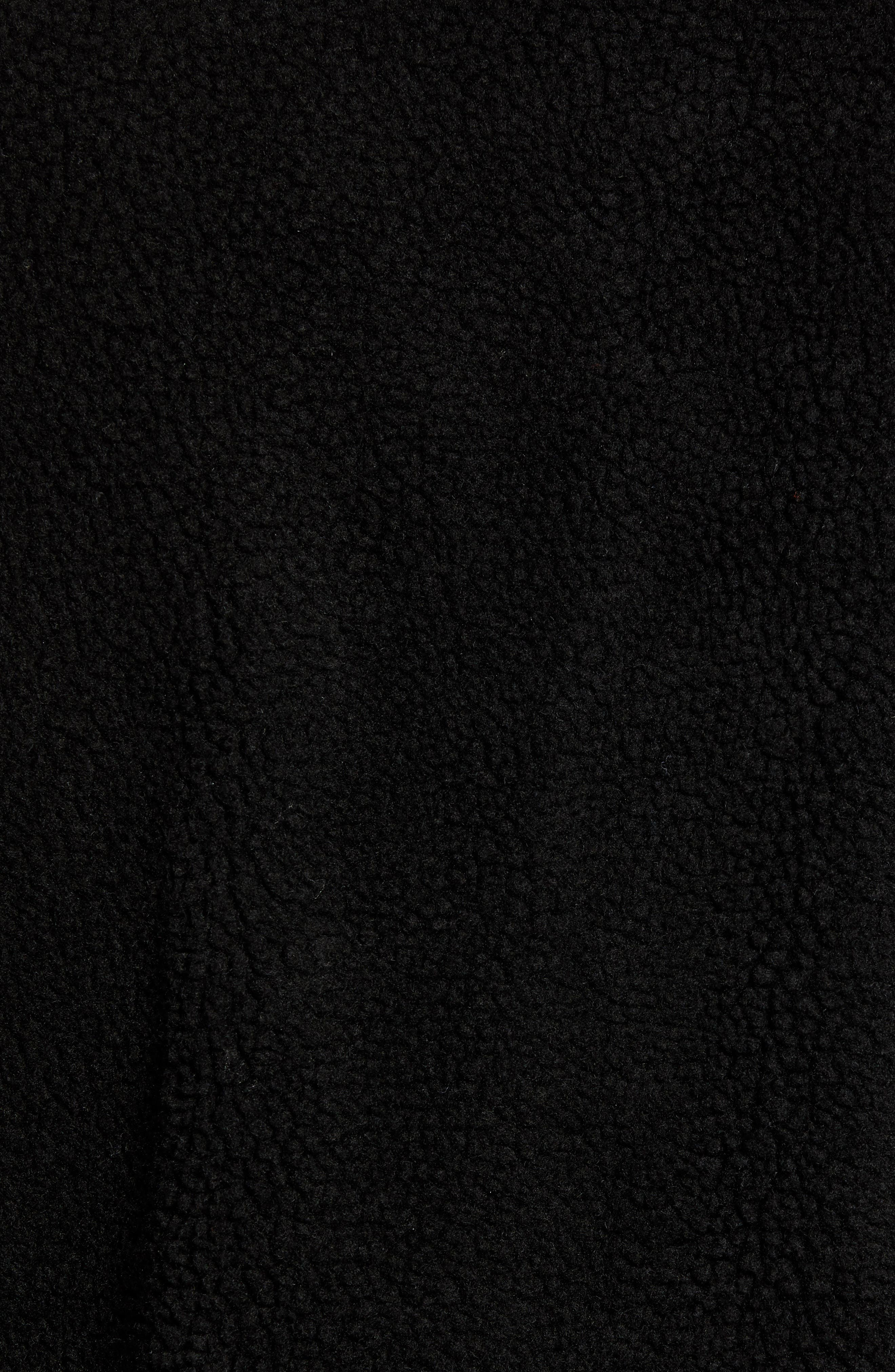 Varby Reversible Fleece Jacket,                             Alternate thumbnail 7, color,                             BLACK