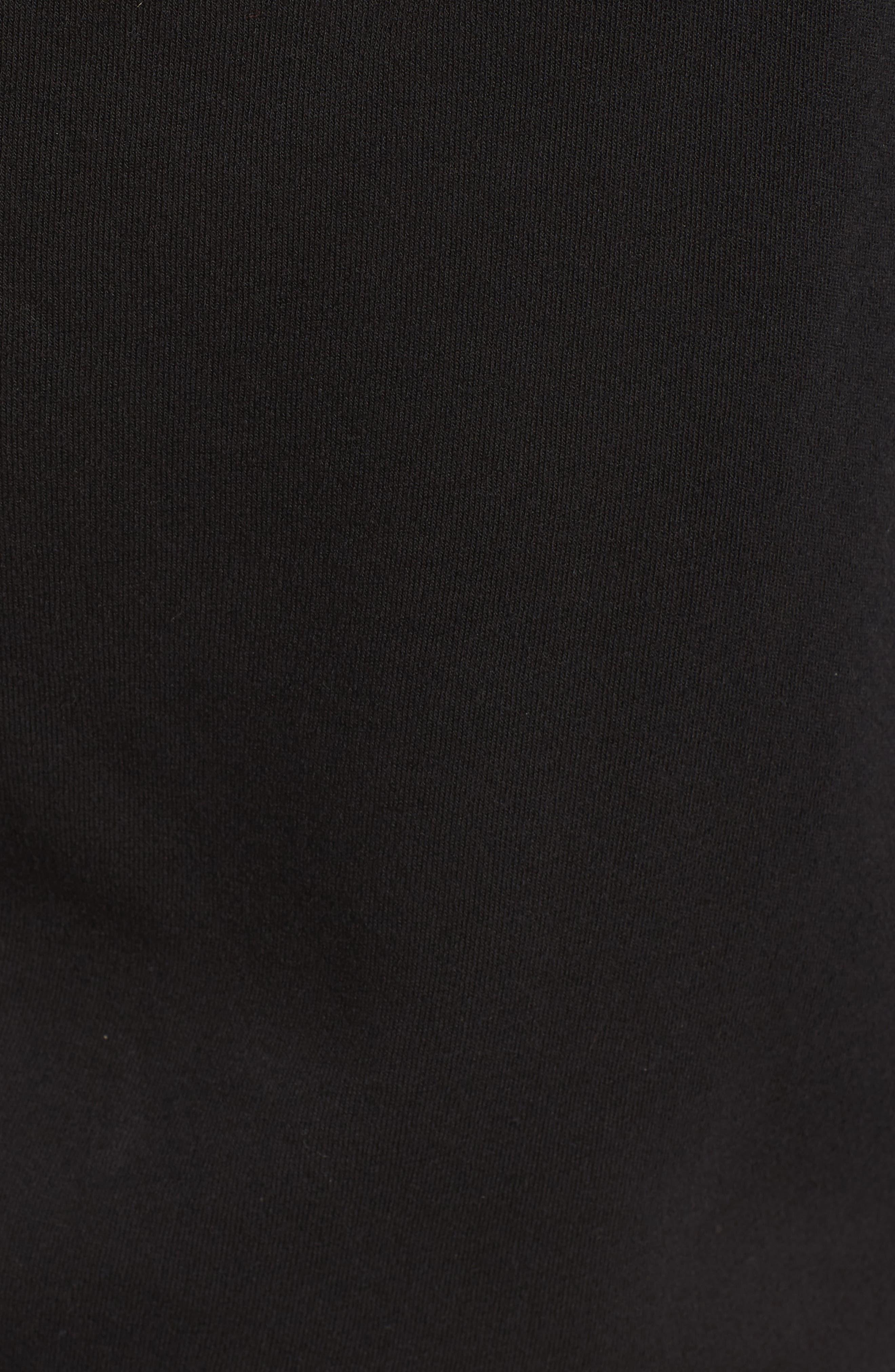 One-Shoulder Sweatshirt,                             Alternate thumbnail 5, color,                             001