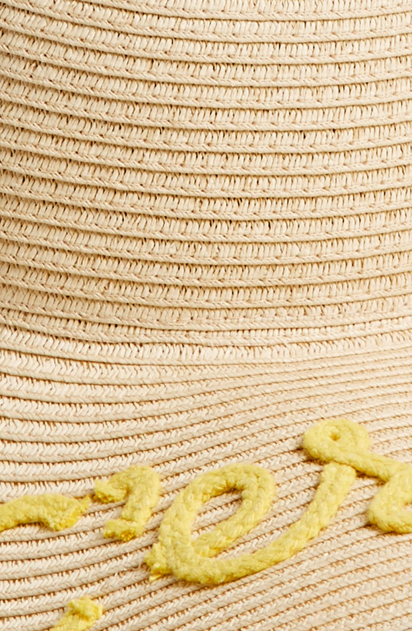 C'est La Vie Floppy Straw Hat,                             Alternate thumbnail 2, color,                             250