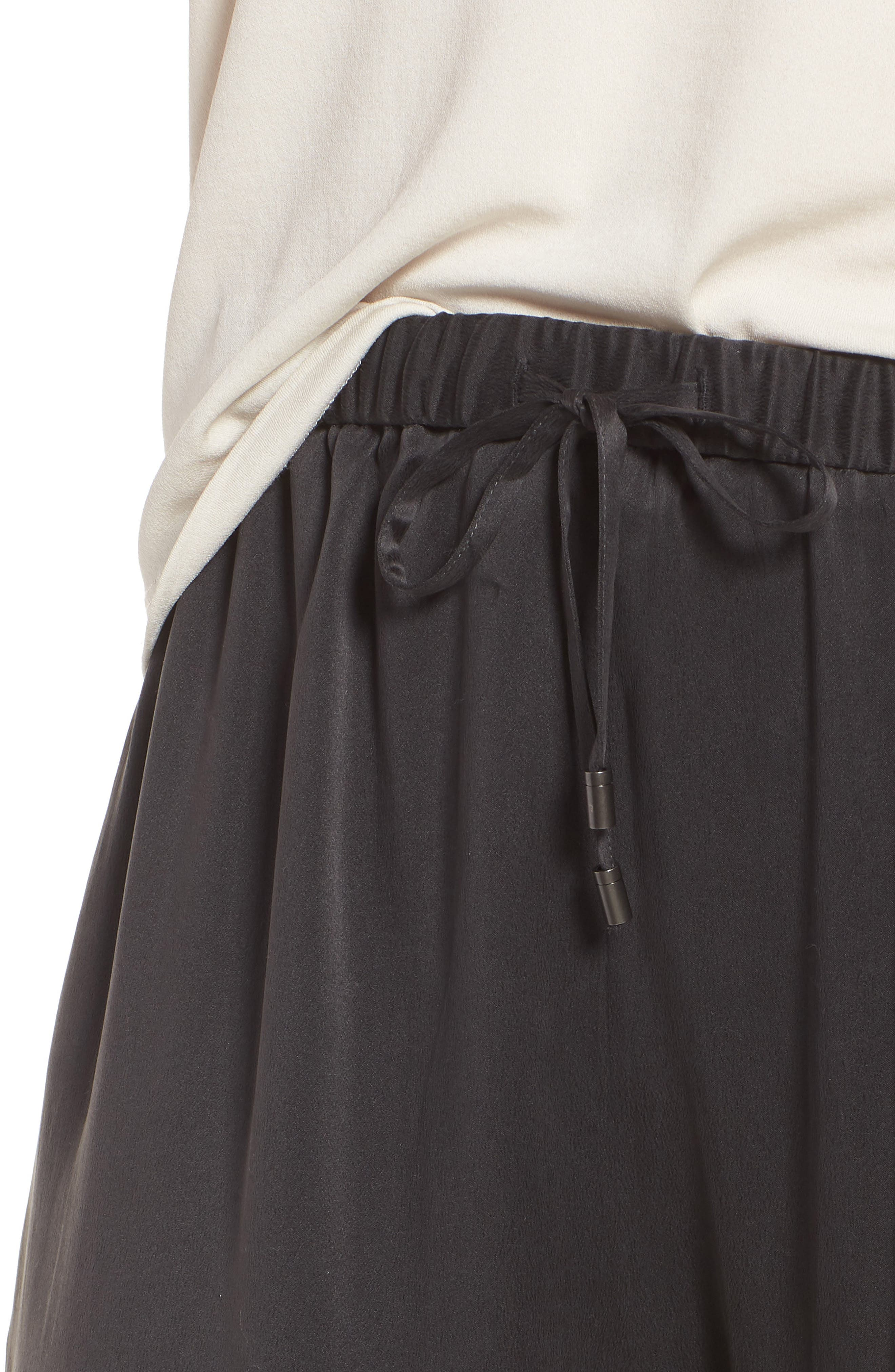 EILEEN FISHER,                             Slouchy Silk Crop Pants,                             Alternate thumbnail 4, color,                             025