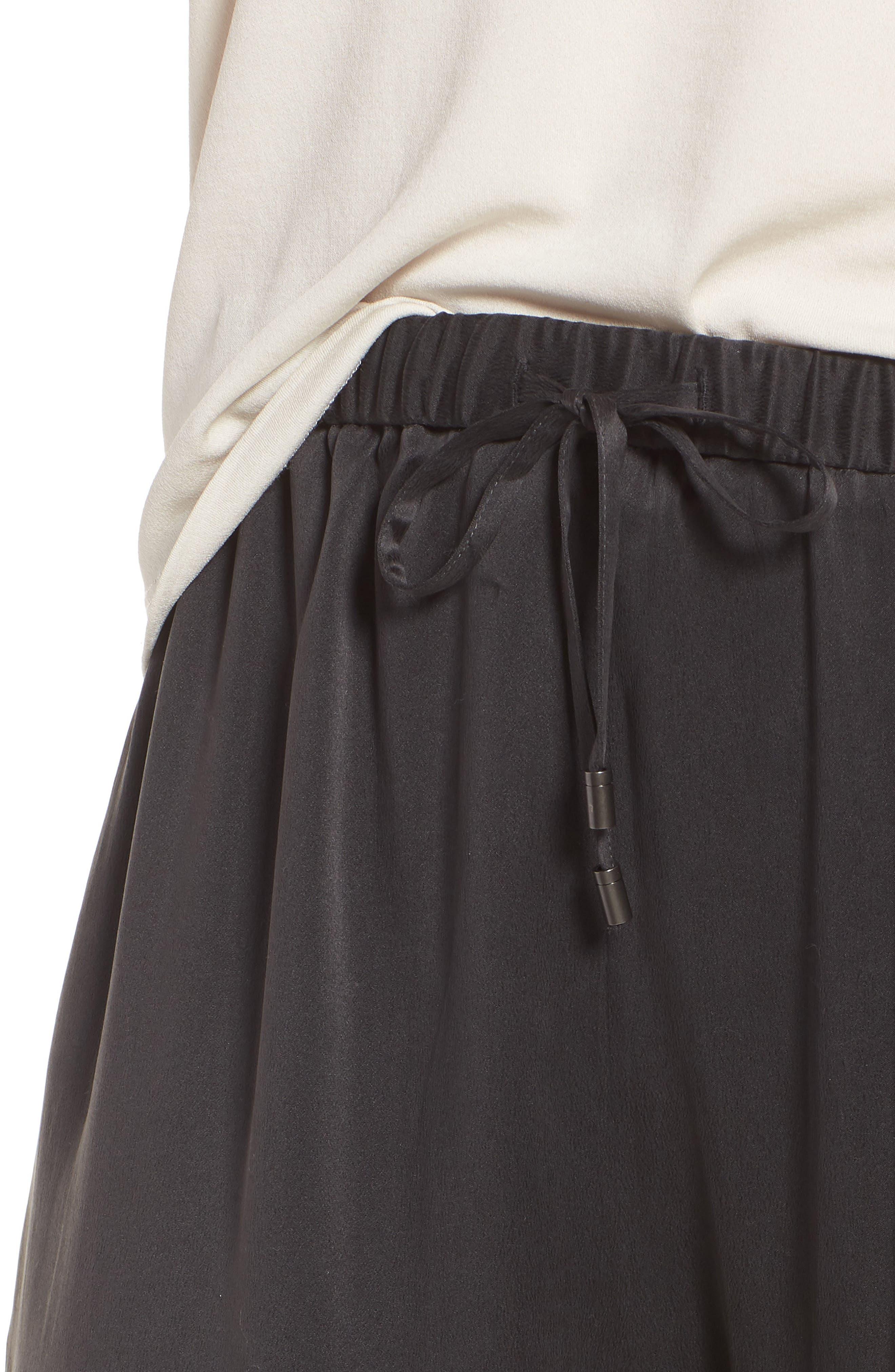 Slouchy Silk Crop Pants,                             Alternate thumbnail 4, color,                             025