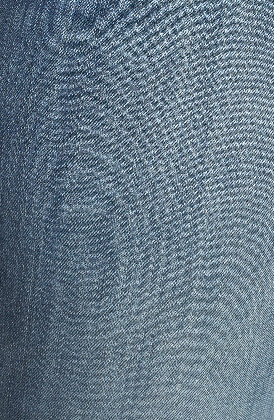 'Reese' Crop Flare Leg Jeans,                             Alternate thumbnail 5, color,                             PERFECTION