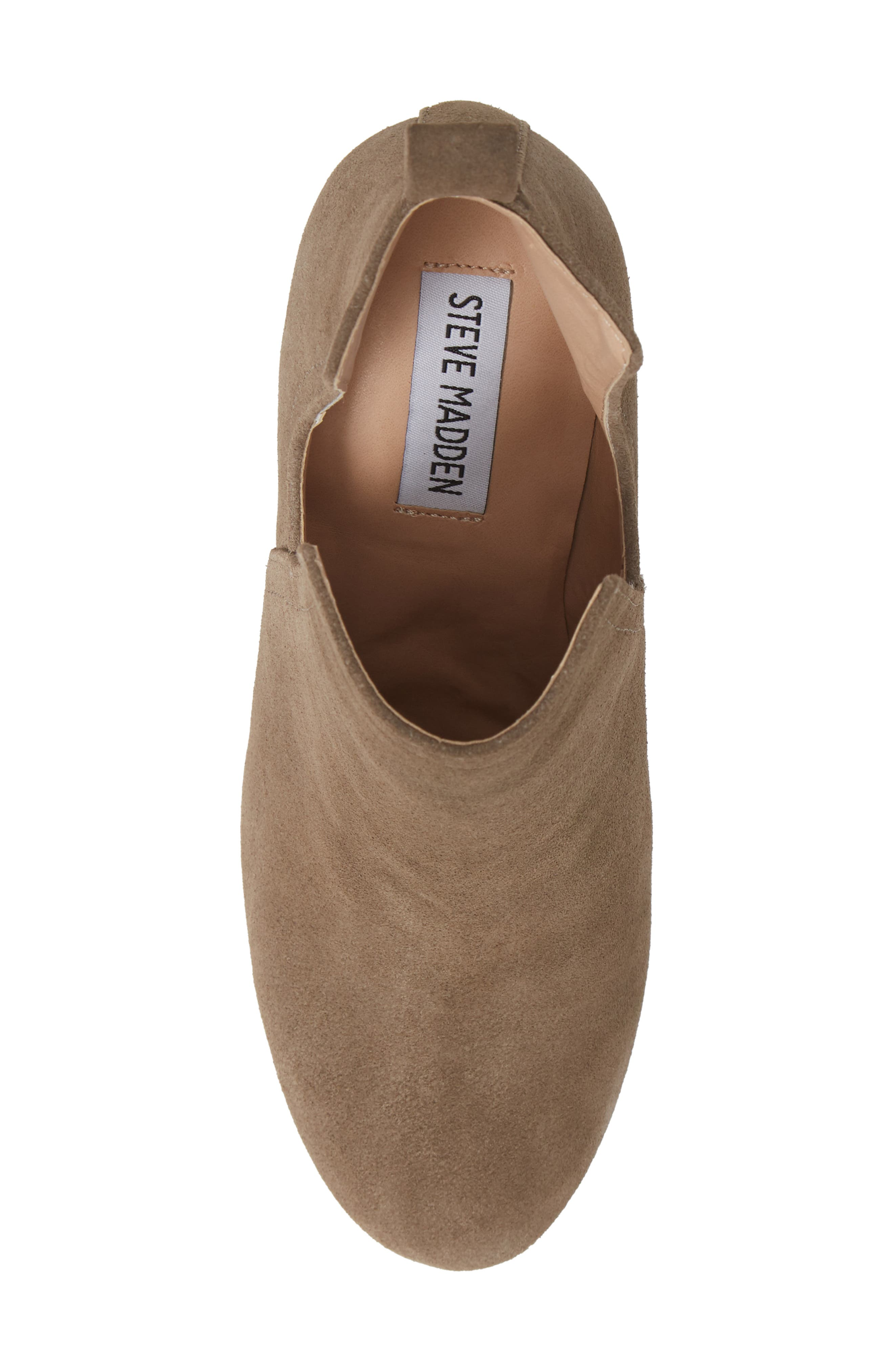 Nayna Bootie,                             Alternate thumbnail 5, color,                             DARK TAUPE