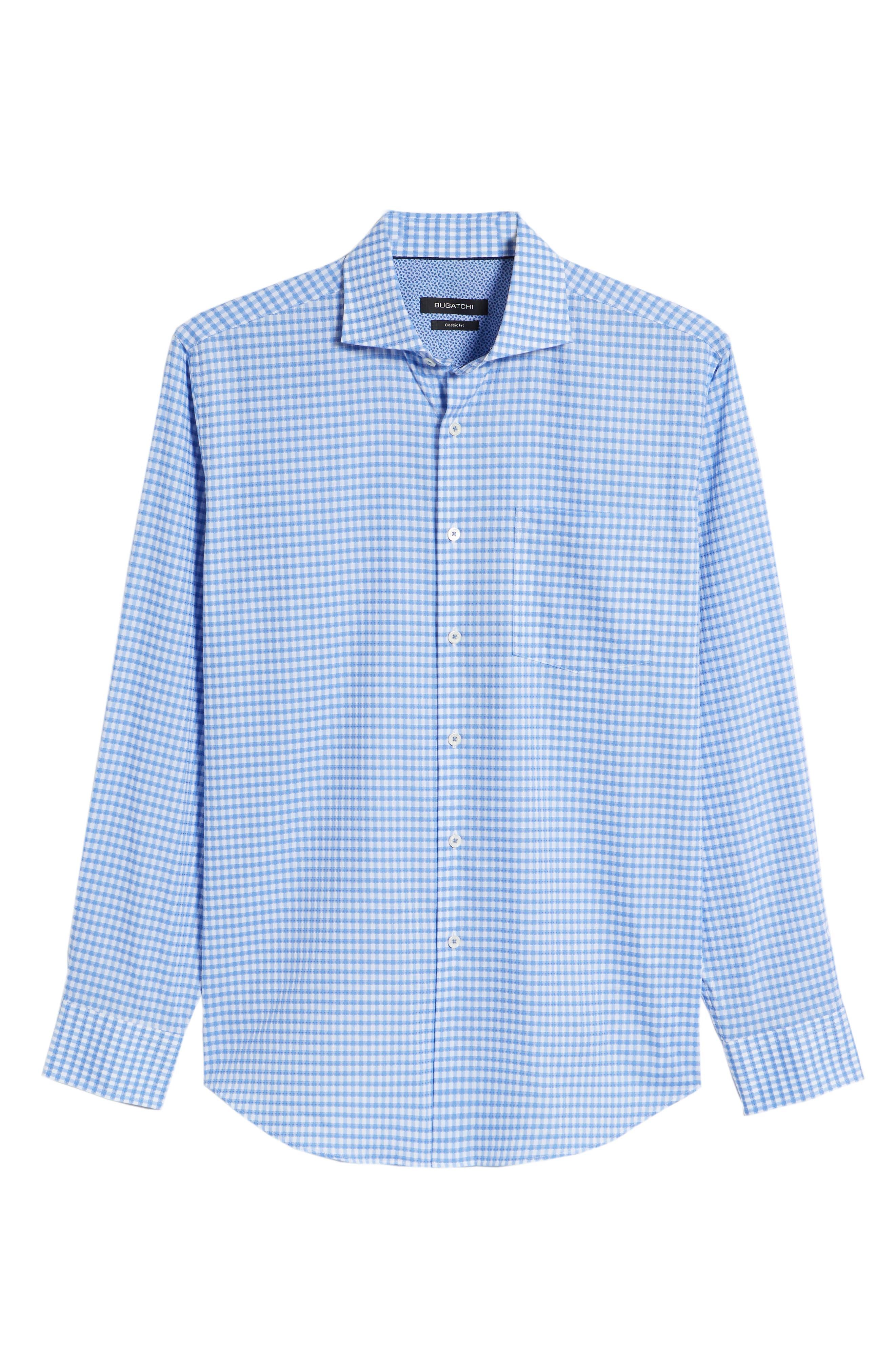 Classic Fit Mini Check Sport Shirt,                             Alternate thumbnail 6, color,                             423