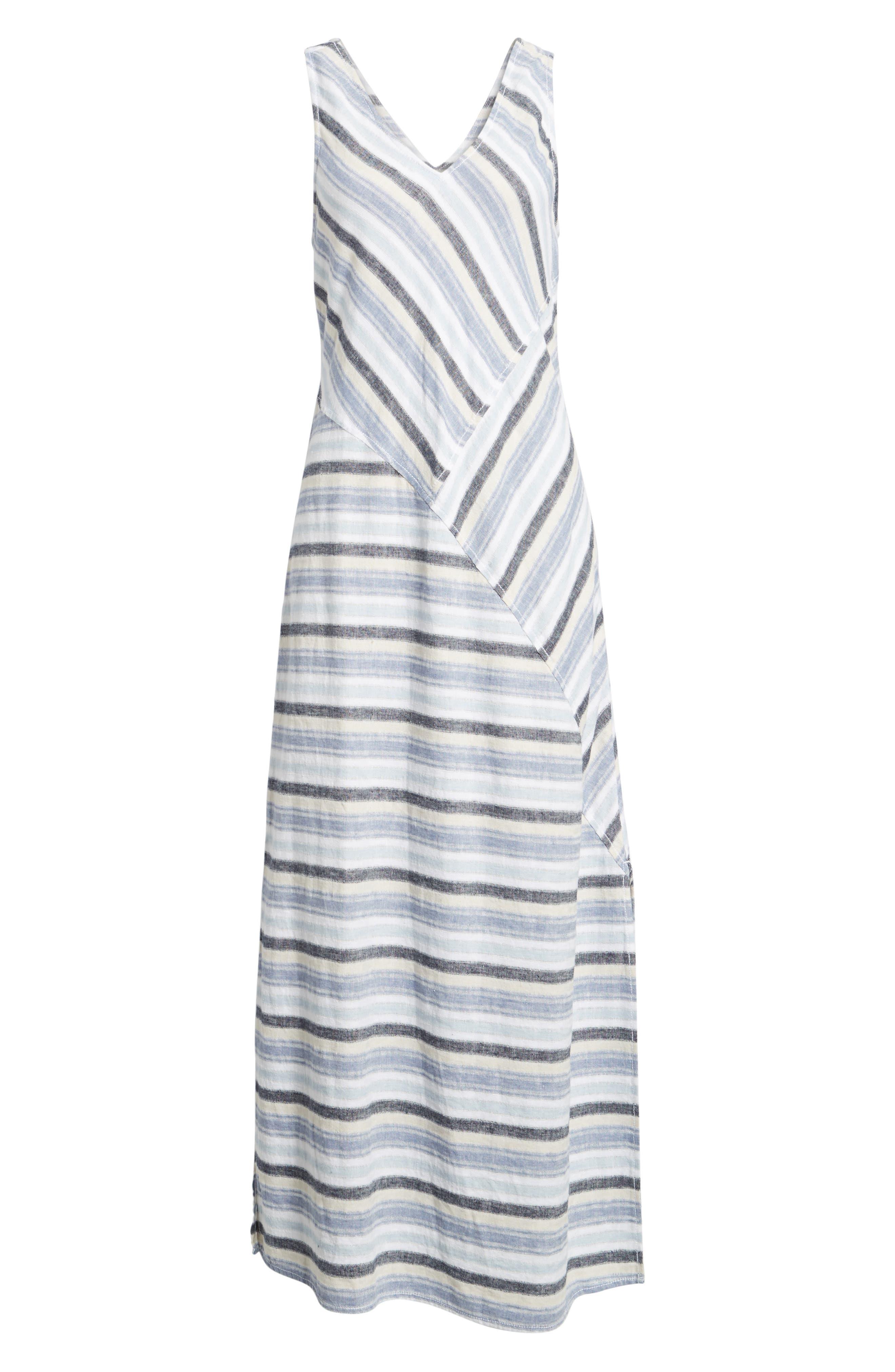 Stripe A-Line Maxi Dress,                             Alternate thumbnail 6, color,                             420