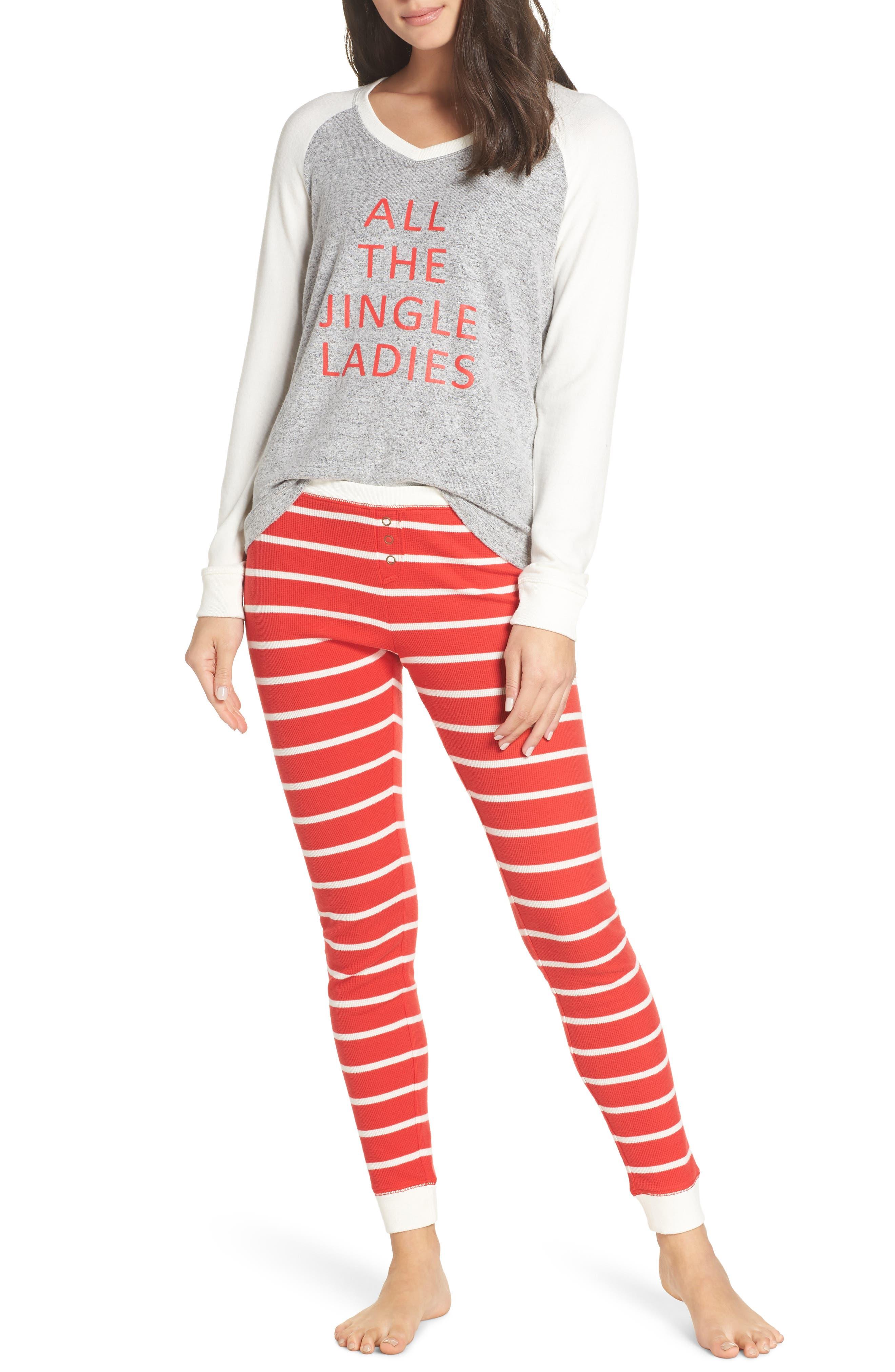 Make + Model Holiday Pajamas, Grey