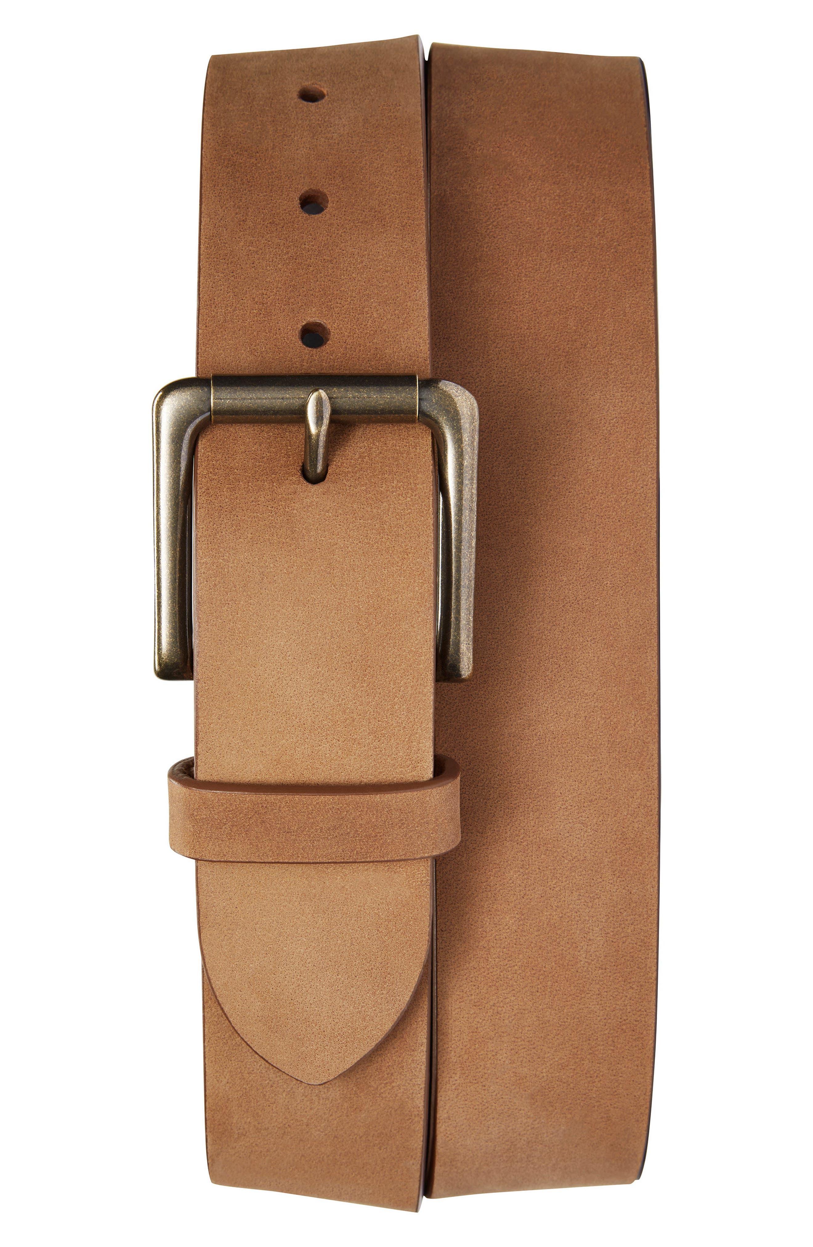 Outrigger Leather Belt,                         Main,                         color, LIGHT BROWN