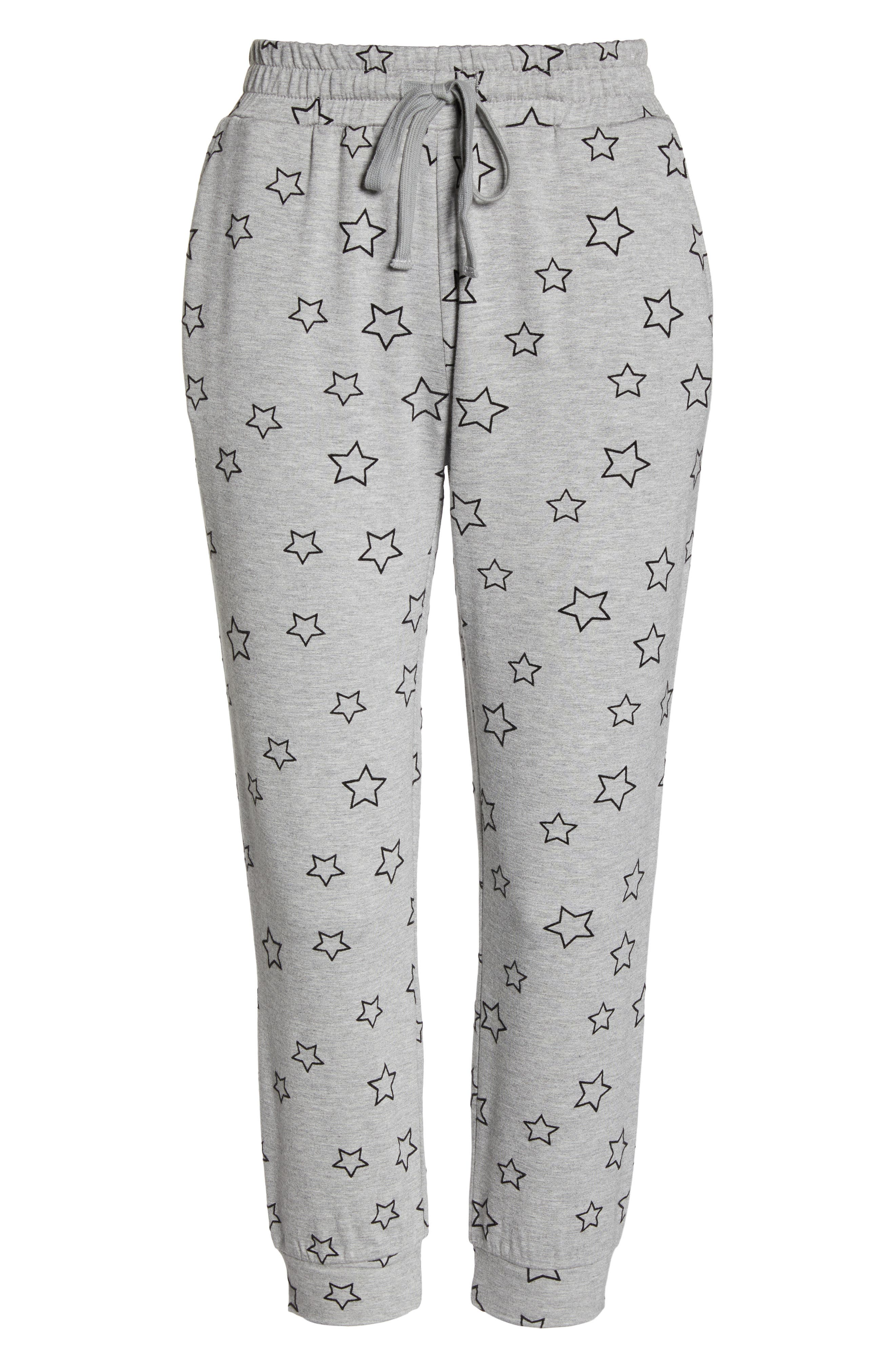 Seeing Stars Lounge Jogger Pants,                             Alternate thumbnail 6, color,                             HEATHER GREY
