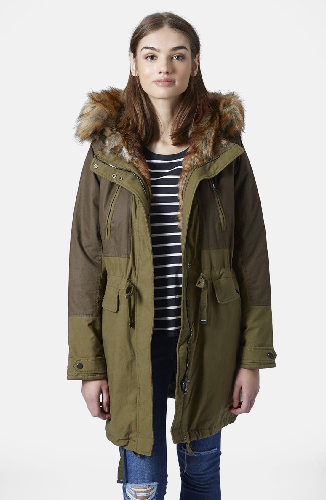 'Martha' Faux Fur Trim Parka,                             Main thumbnail 1, color,                             300