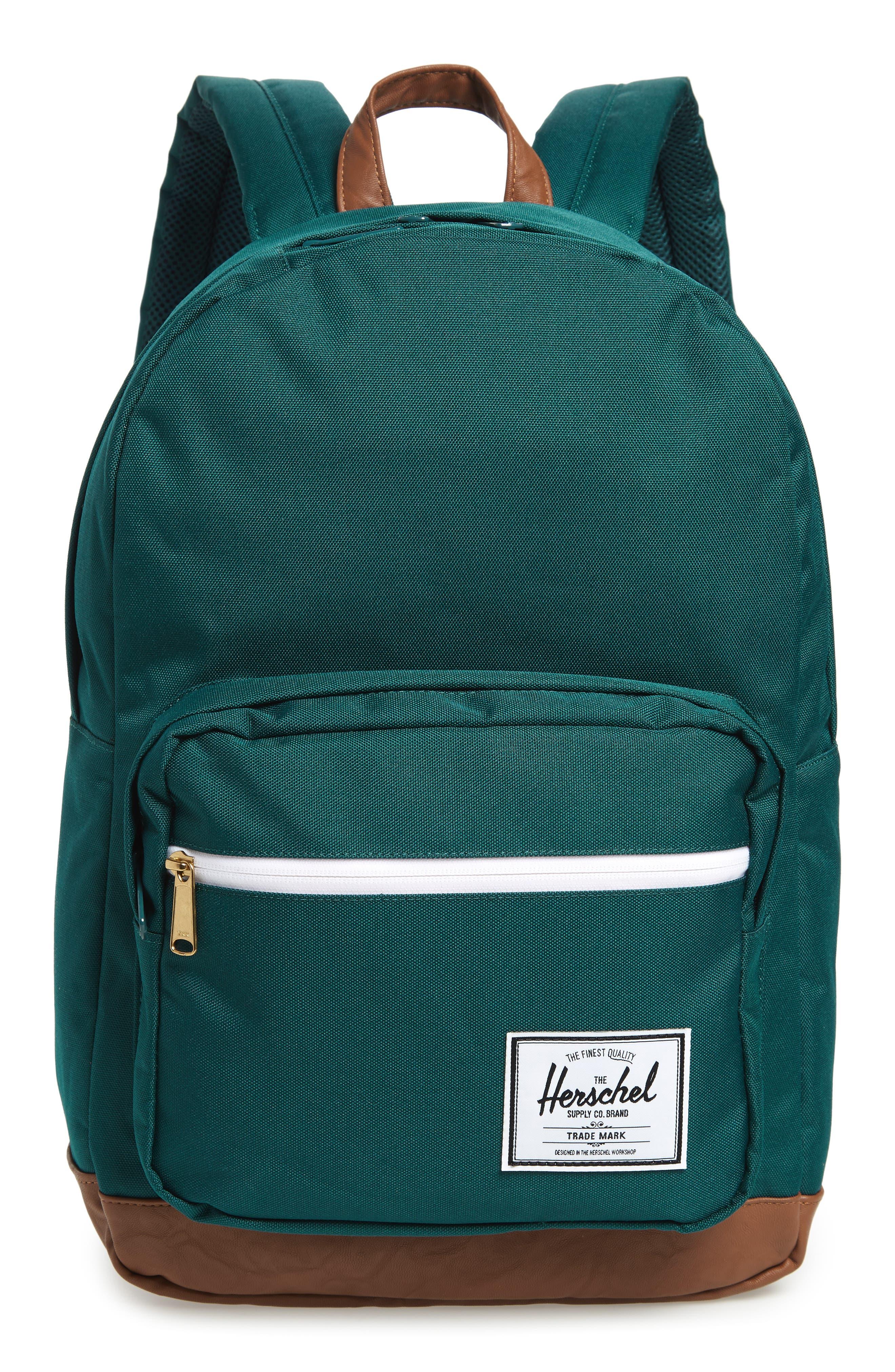 Pop Quiz Backpack,                         Main,                         color, DEEP TEAL/ TAN