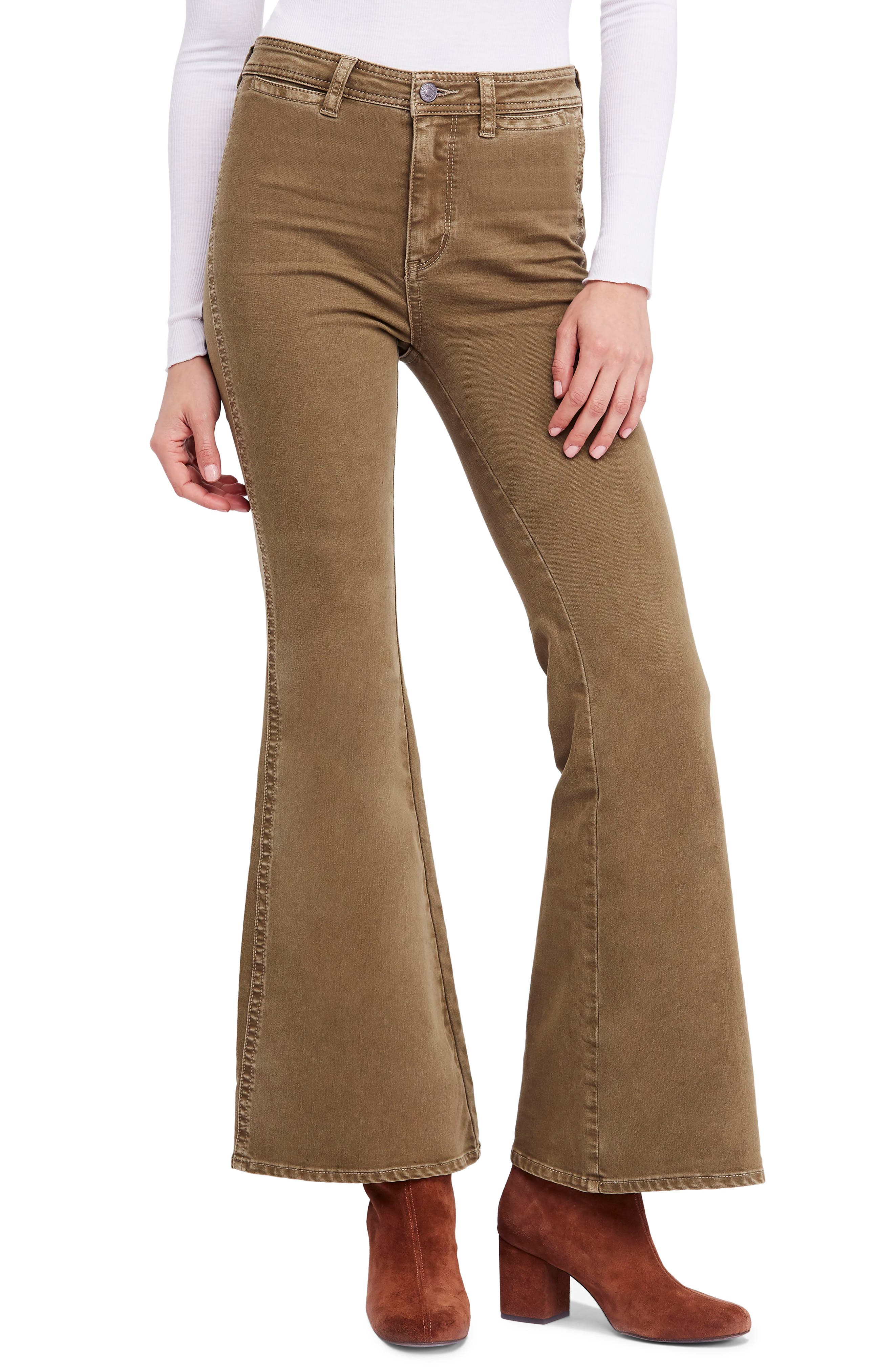 FREE PEOPLE Brooke Flare Jeans, Main, color, 200
