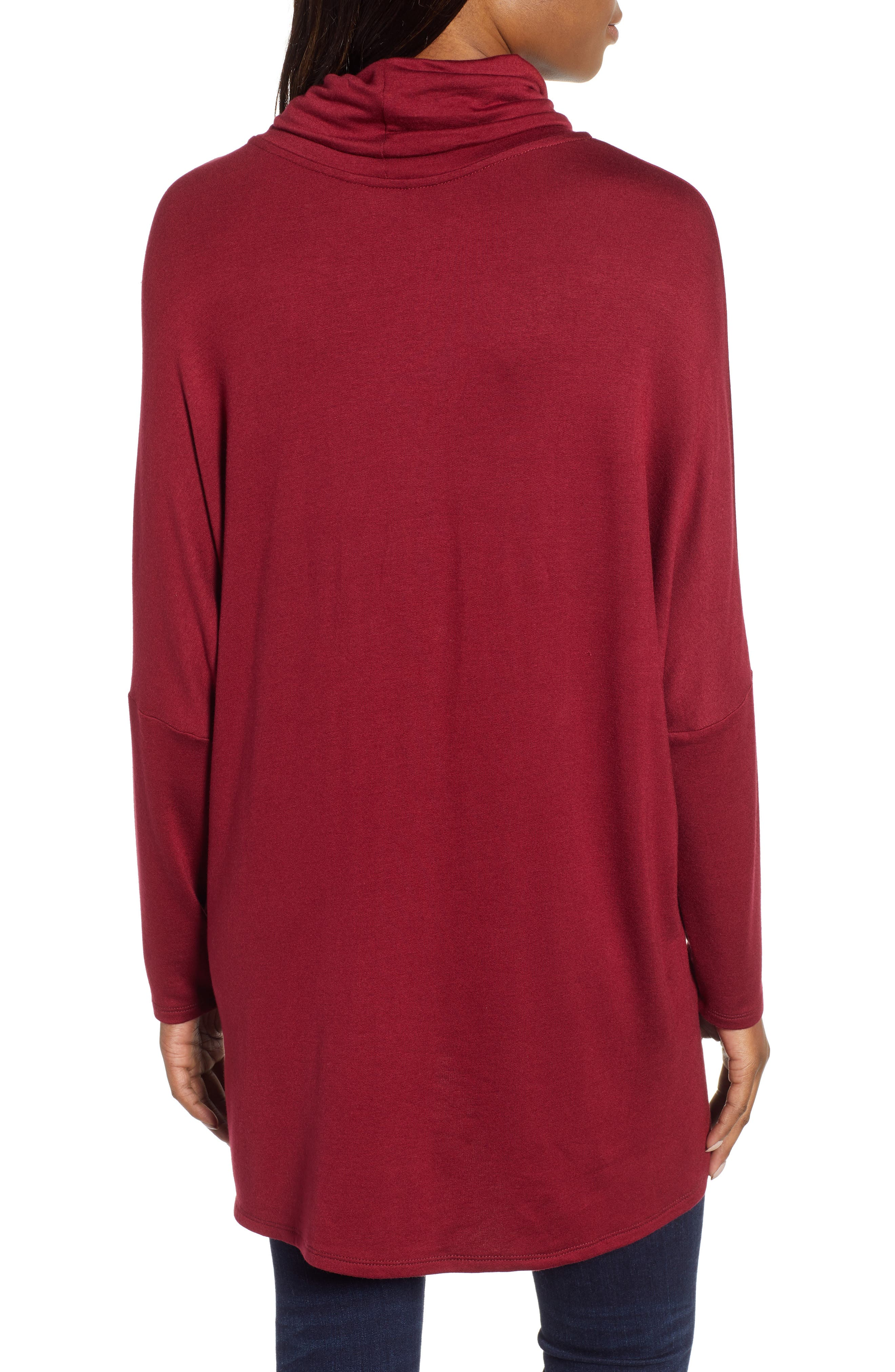 High/Low Tunic,                             Alternate thumbnail 2, color,                             MAROON