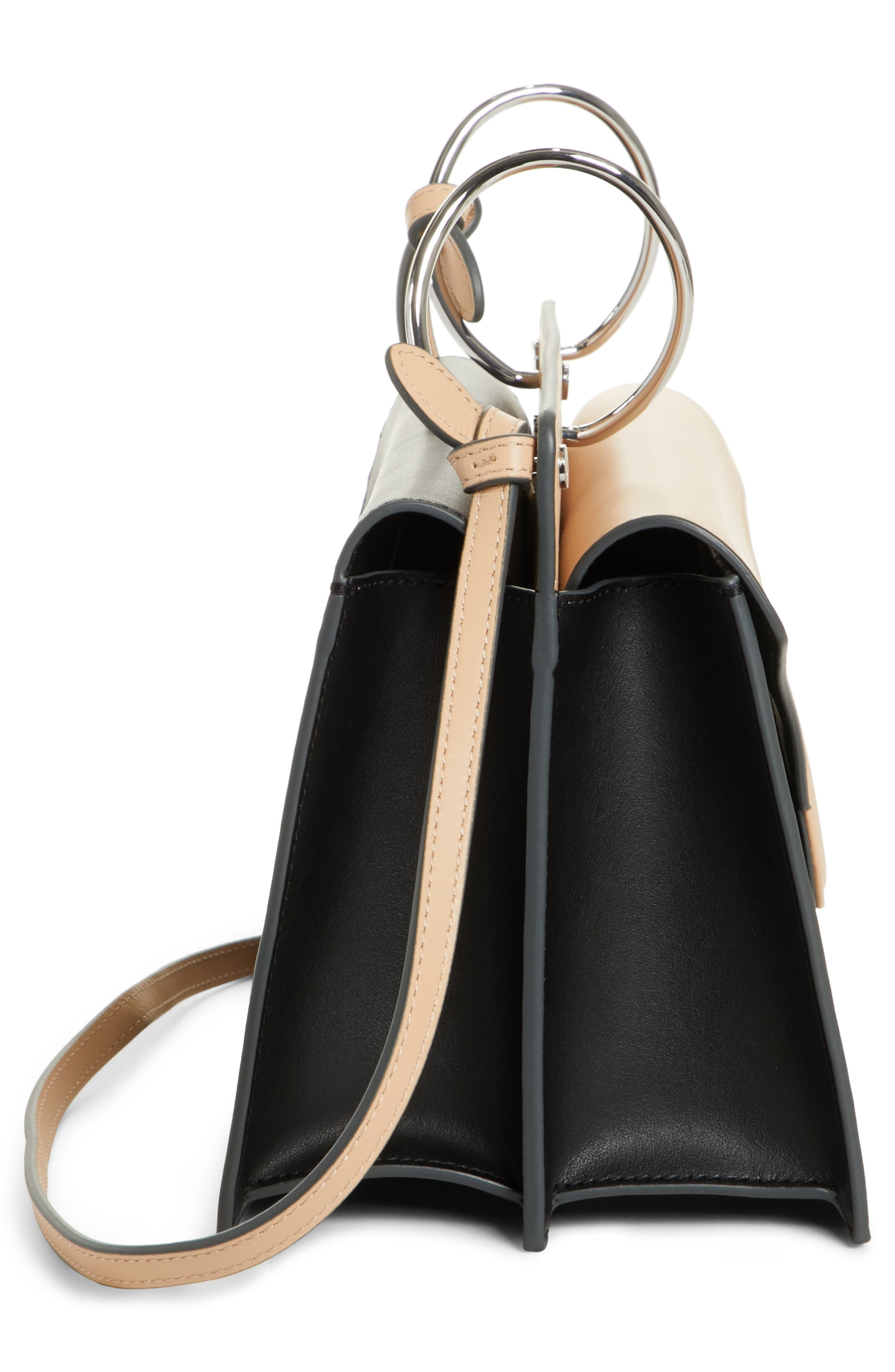 Phoebe Leather Crossbody Bag,                             Alternate thumbnail 5, color,                             NUDE