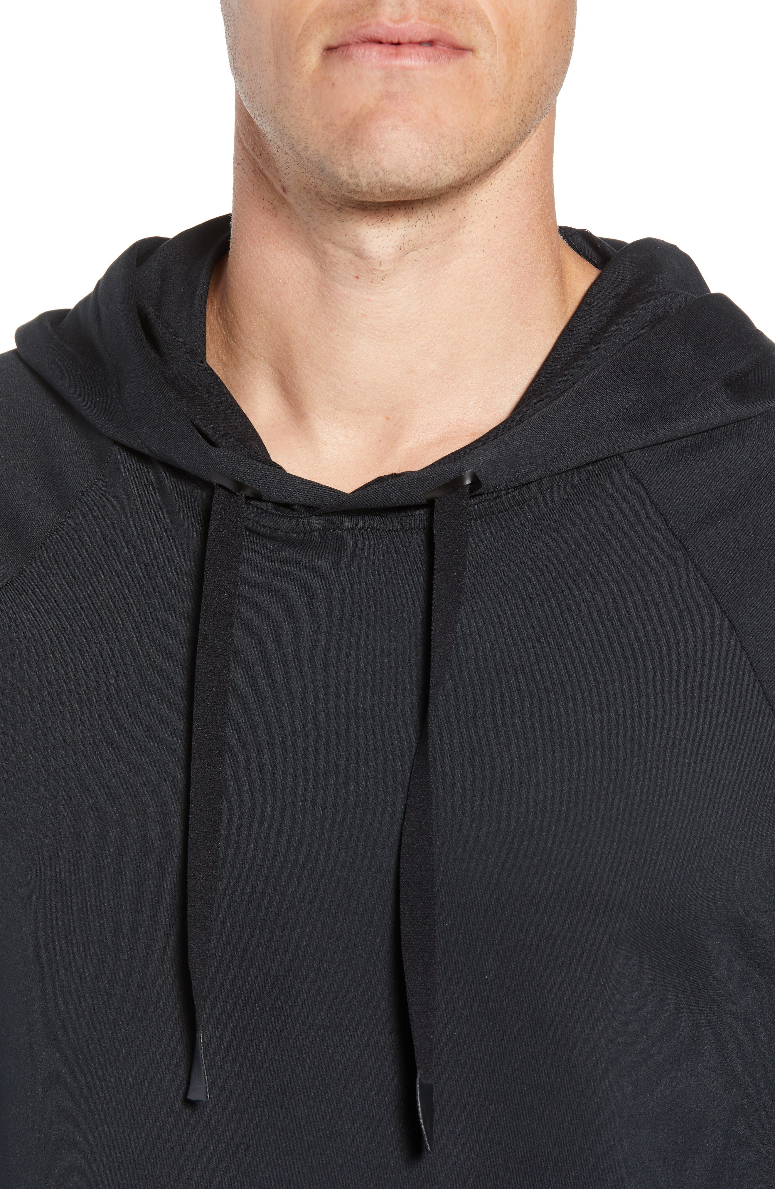 Conquer Hoodie,                             Alternate thumbnail 4, color,                             BLACK SOLID