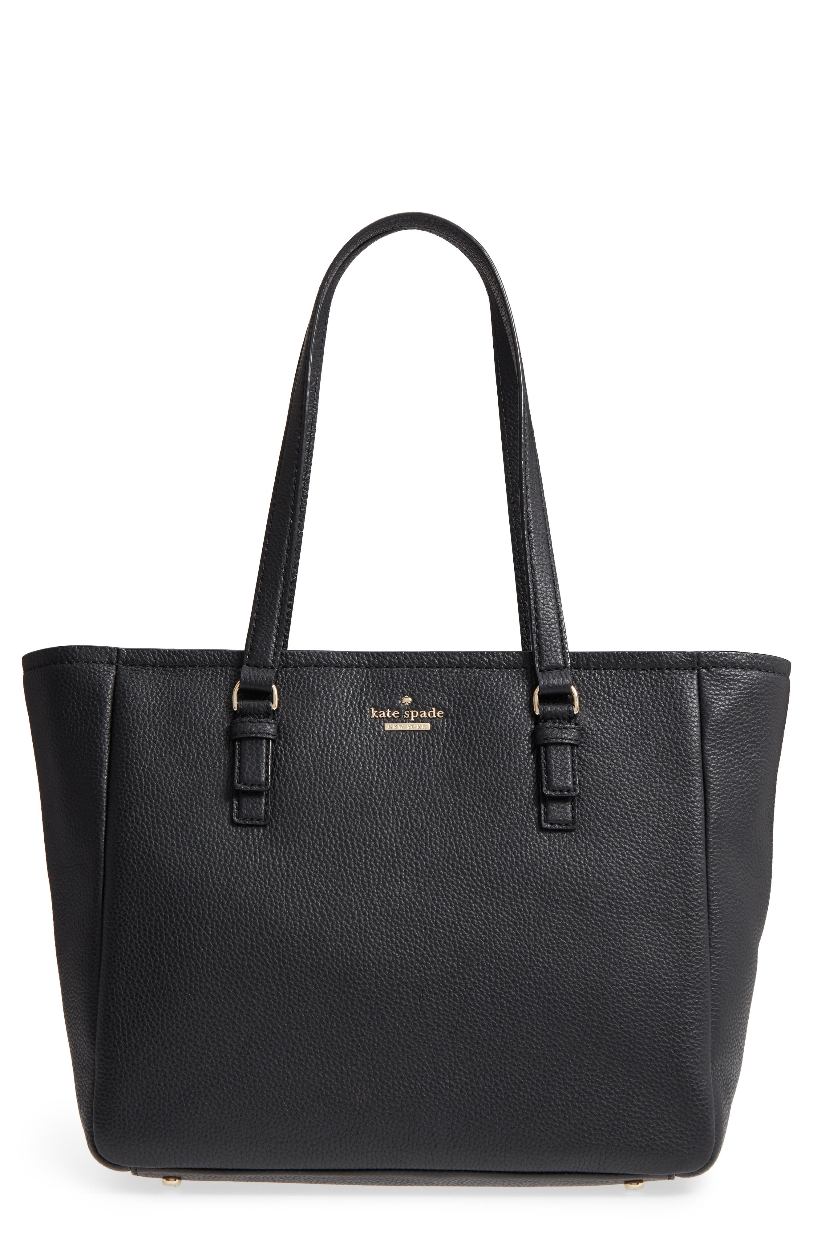 jackson street - denise leather tote,                         Main,                         color, 001