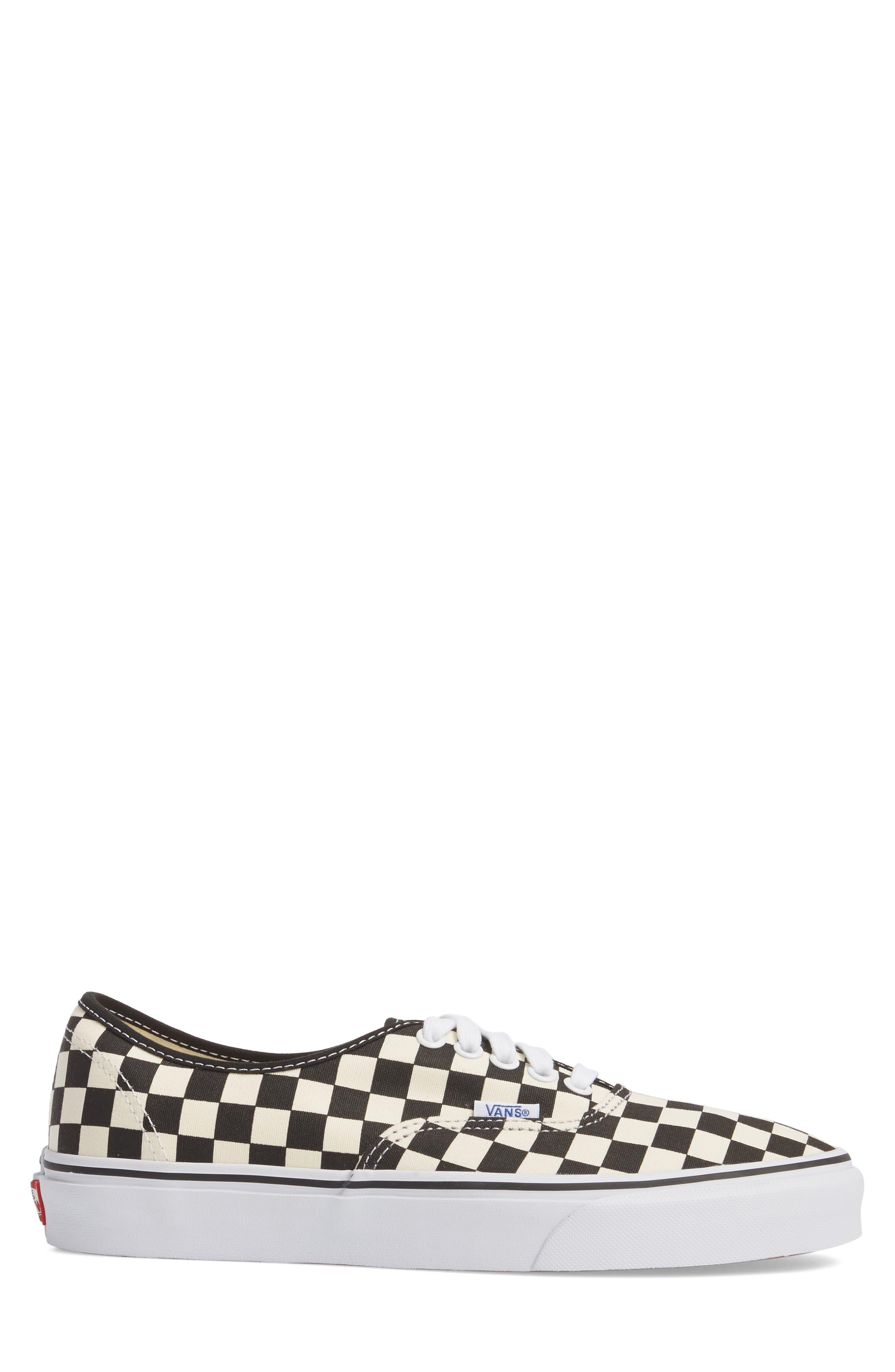 Authentic Golden Coast Sneaker,                             Alternate thumbnail 3, color,                             BLACK/ WHITE CHECKER