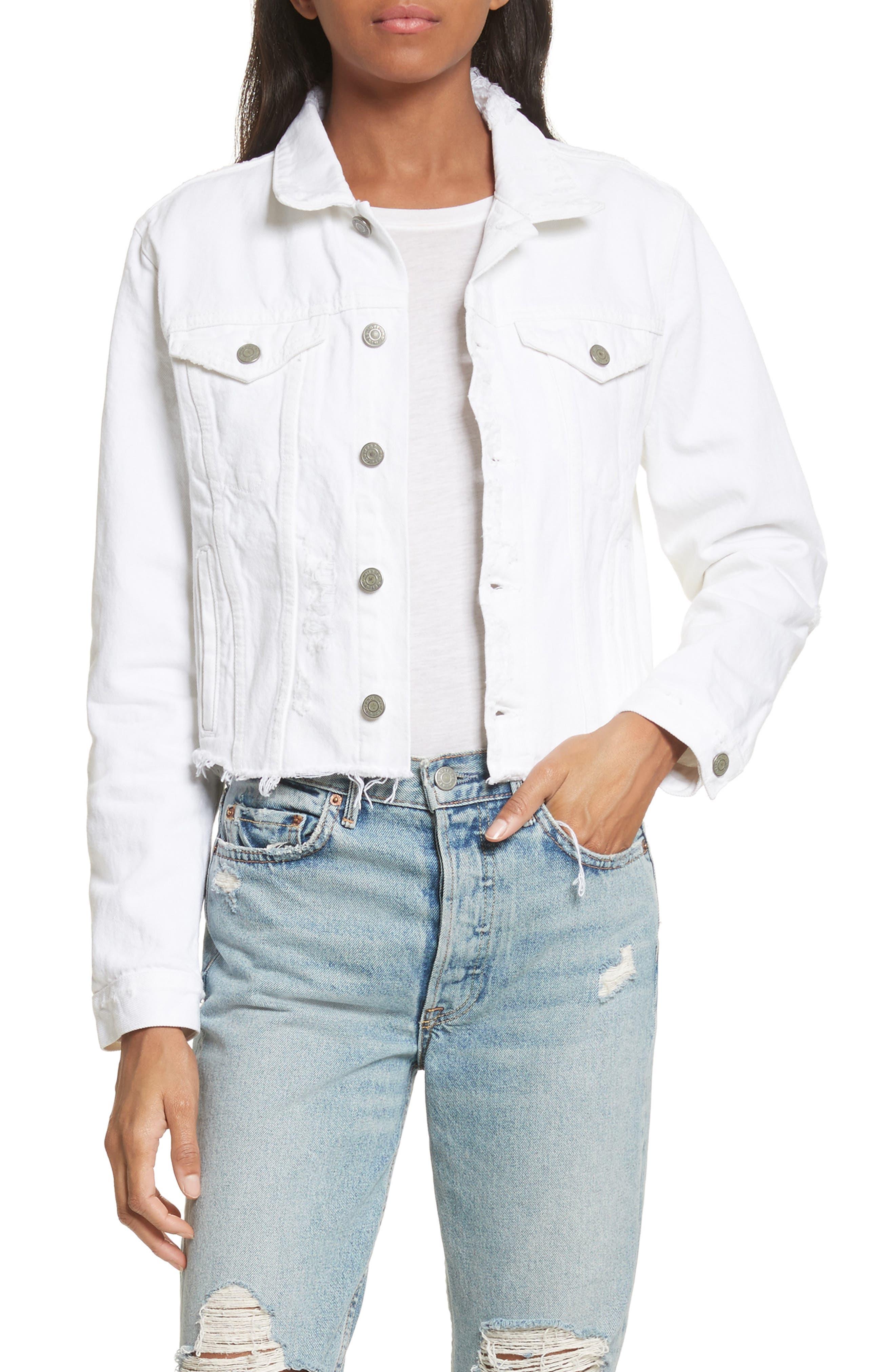 Cara Crop Denim Jacket,                         Main,                         color, VIENNA
