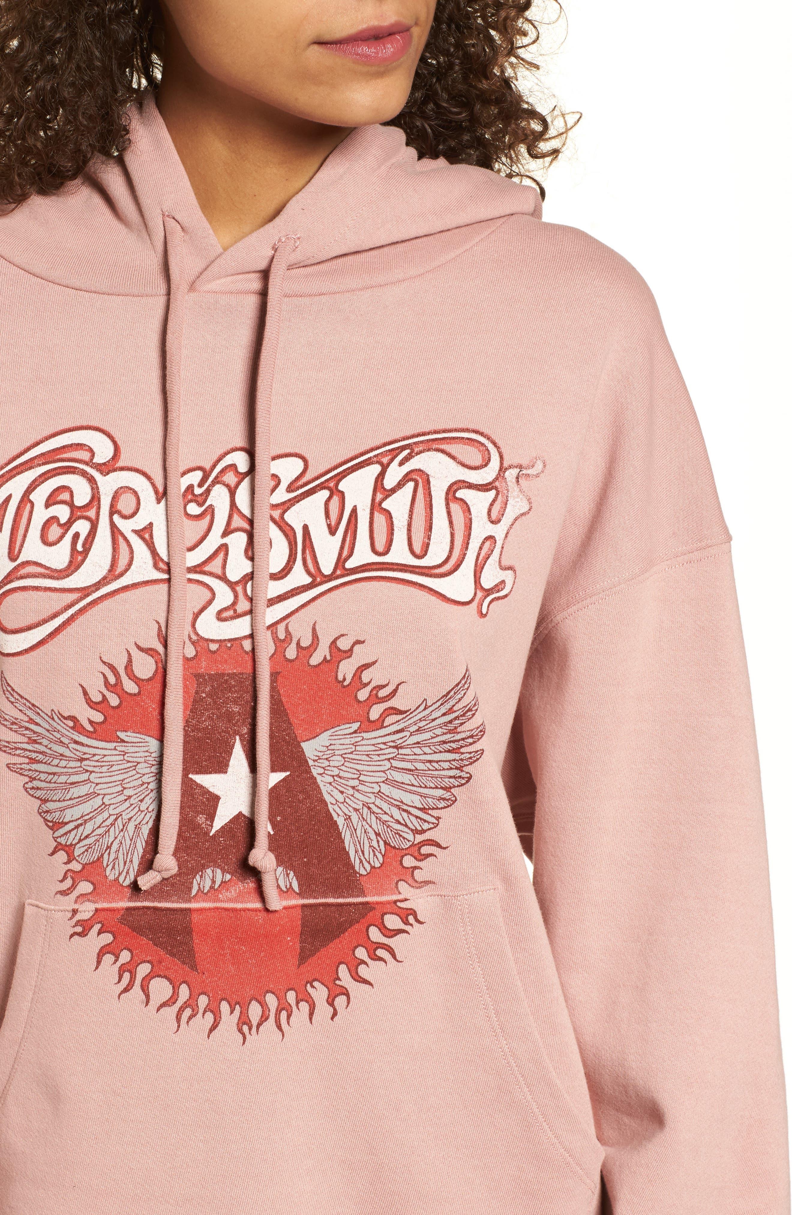 Aerosmith Wings Hoodie,                             Alternate thumbnail 4, color,                             650