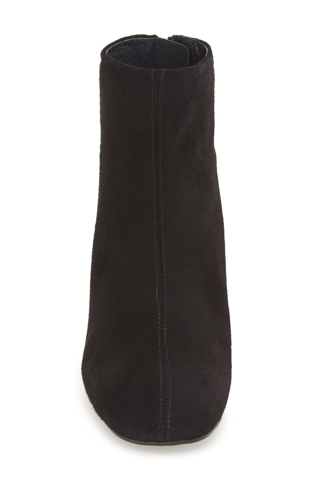 'Maggie' Flared Heel Bootie,                             Alternate thumbnail 3, color,                             001